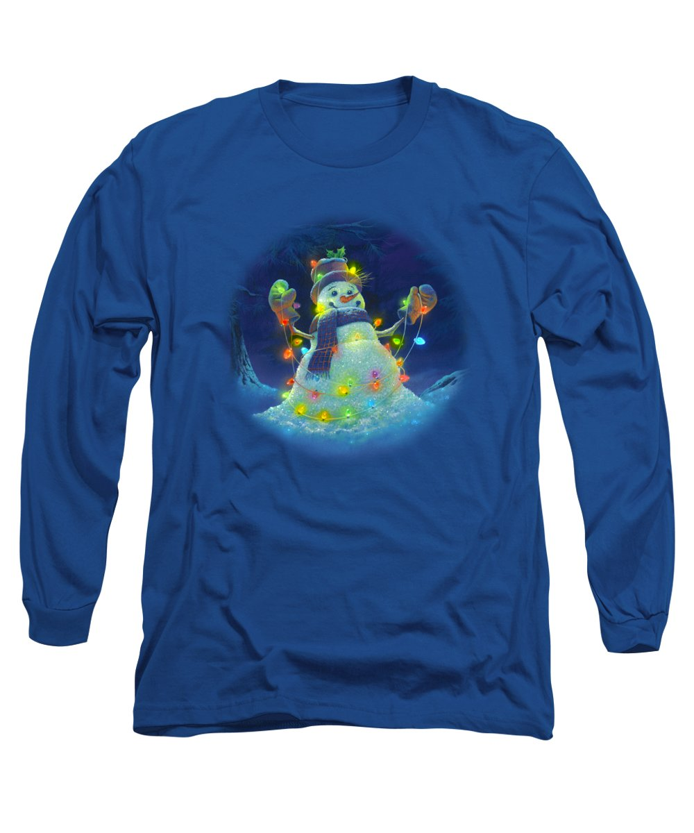 Michael Humphries Long Sleeve T-Shirt featuring the painting Let It Glow by Michael Humphries