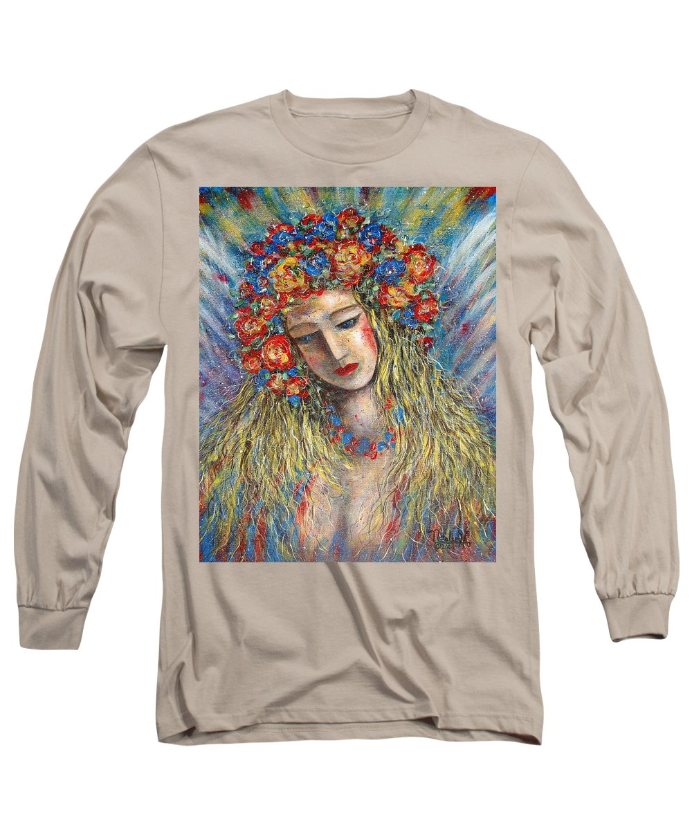 Painting Long Sleeve T-Shirt featuring the painting The Loving Angel by Natalie Holland