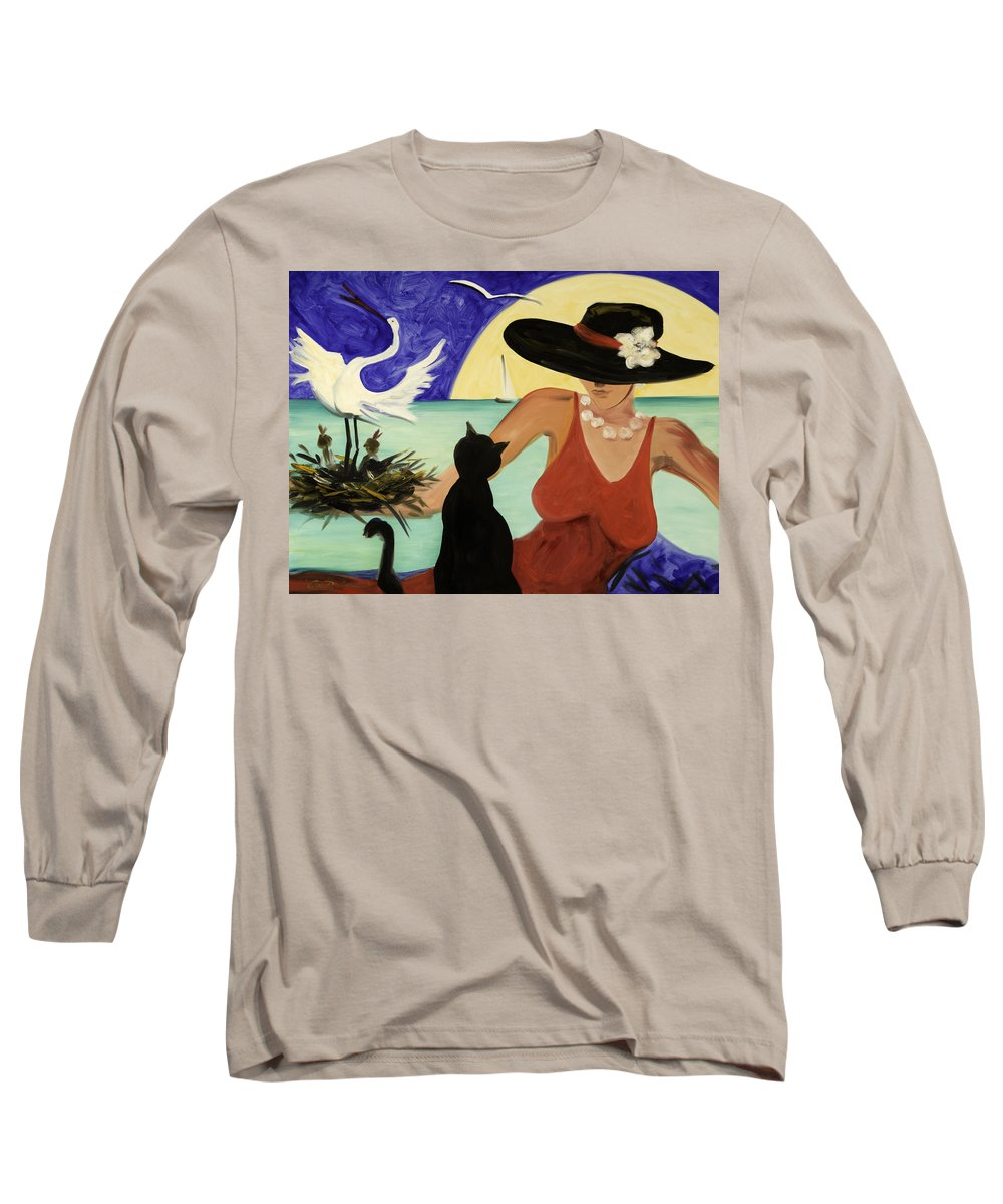 Colorful Art Long Sleeve T-Shirt featuring the painting Living The Dream by Gina De Gorna