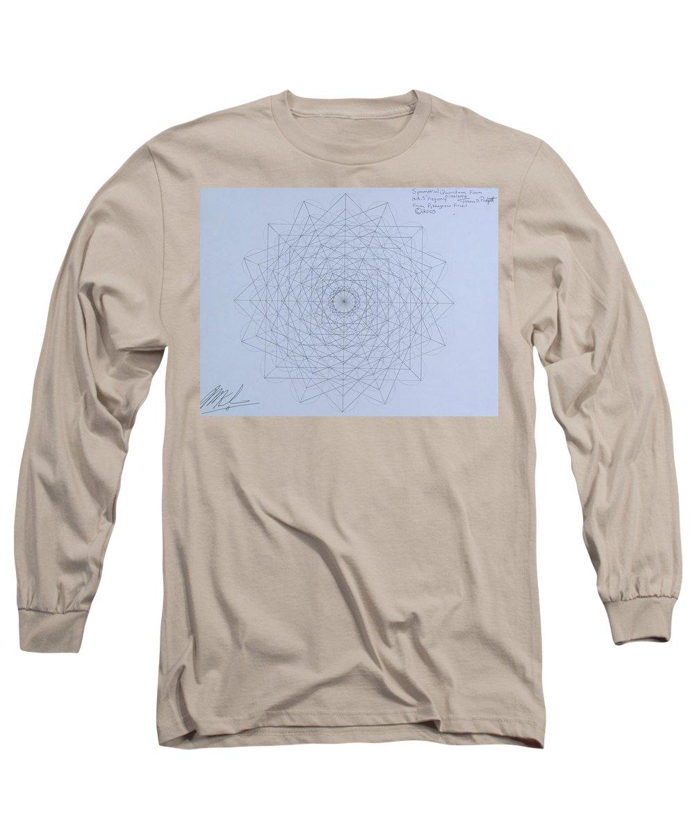 Jason Long Sleeve T-Shirt featuring the drawing Quantum Foam by Jason Padgett