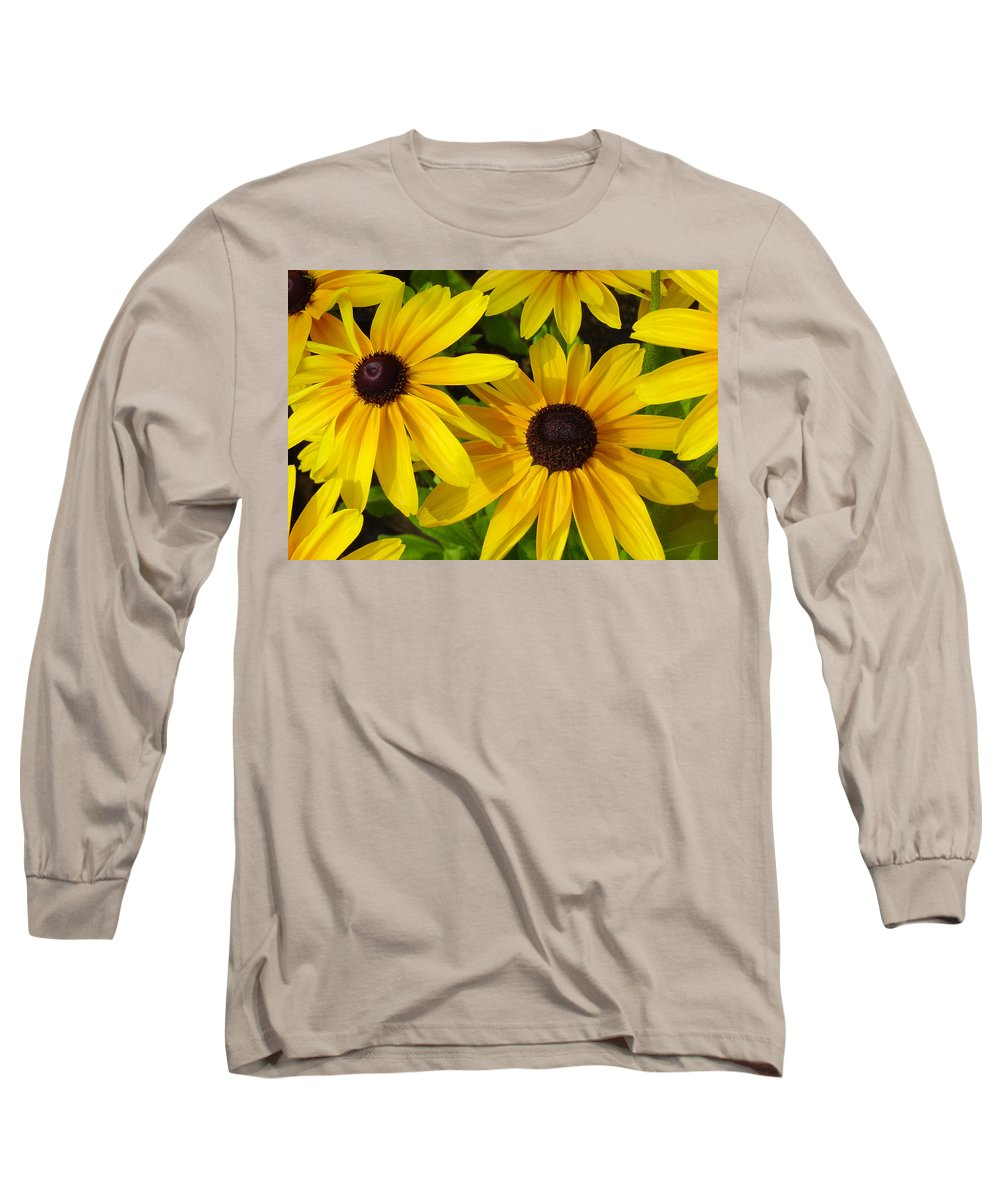 Black Eyed Susan Long Sleeve T-Shirt featuring the photograph Black Eyed Susans by Suzanne Gaff