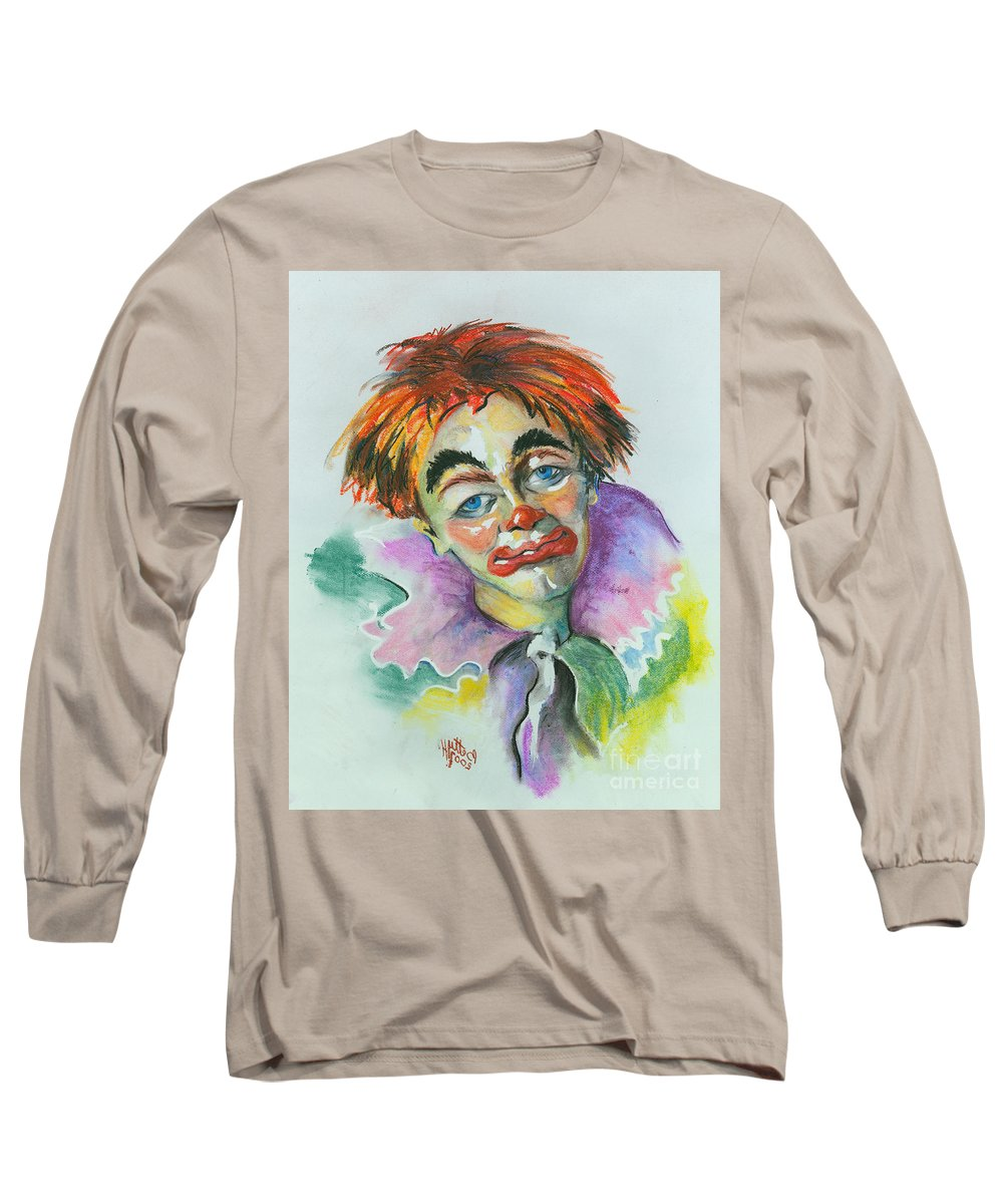 Canvas Print Long Sleeve T-Shirt featuring the painting Blue Eyes by Elisabeta Hermann