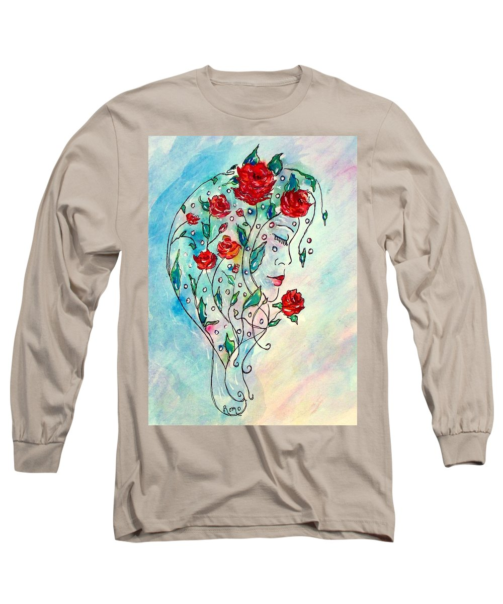 Bouquet Long Sleeve T-Shirt featuring the painting Bouquet Of Love by Robin Monroe