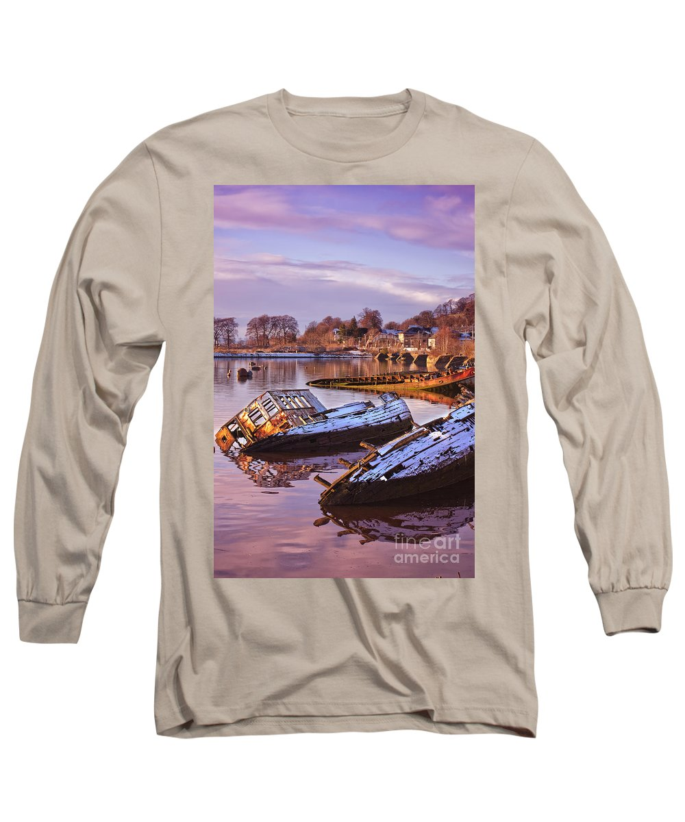Bowling Long Sleeve T-Shirt featuring the photograph Bowling Harbour 03 by Antony McAulay