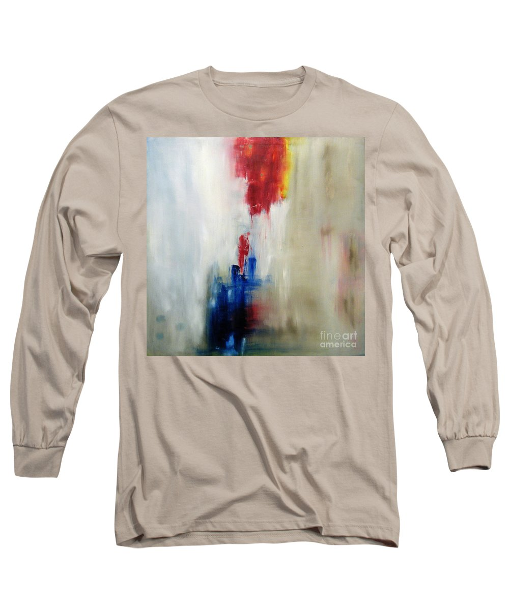 Abstract Painting Long Sleeve T-Shirt featuring the painting C-15 by Jeff Barrett