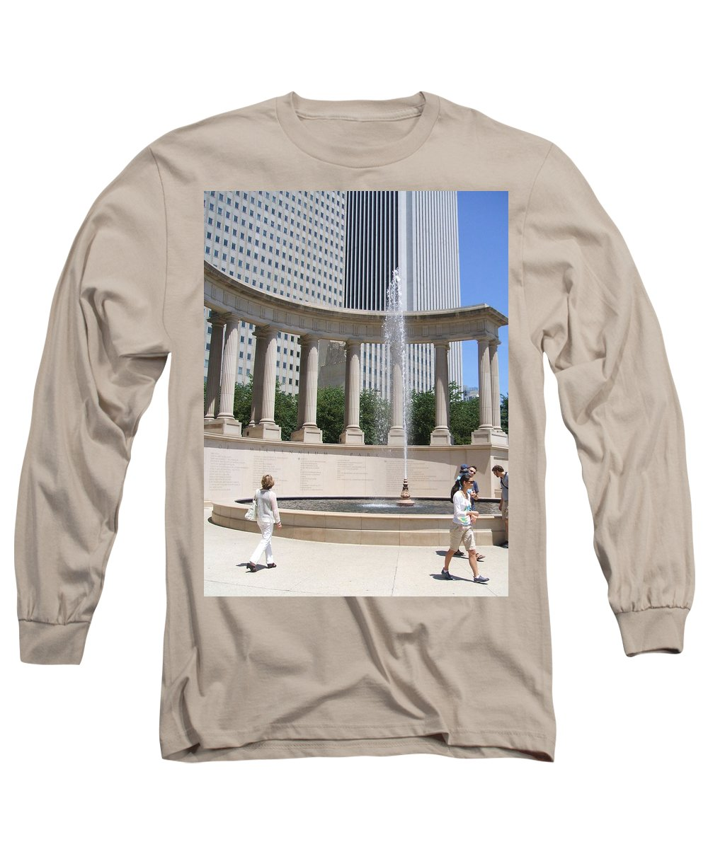 Chicago Long Sleeve T-Shirt featuring the photograph Chicago Tourism by Minding My Visions by Adri and Ray