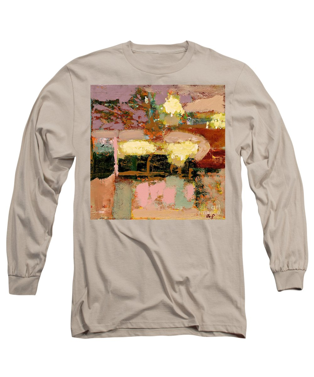 Landscape Long Sleeve T-Shirt featuring the painting Chopped Liver by Allan P Friedlander
