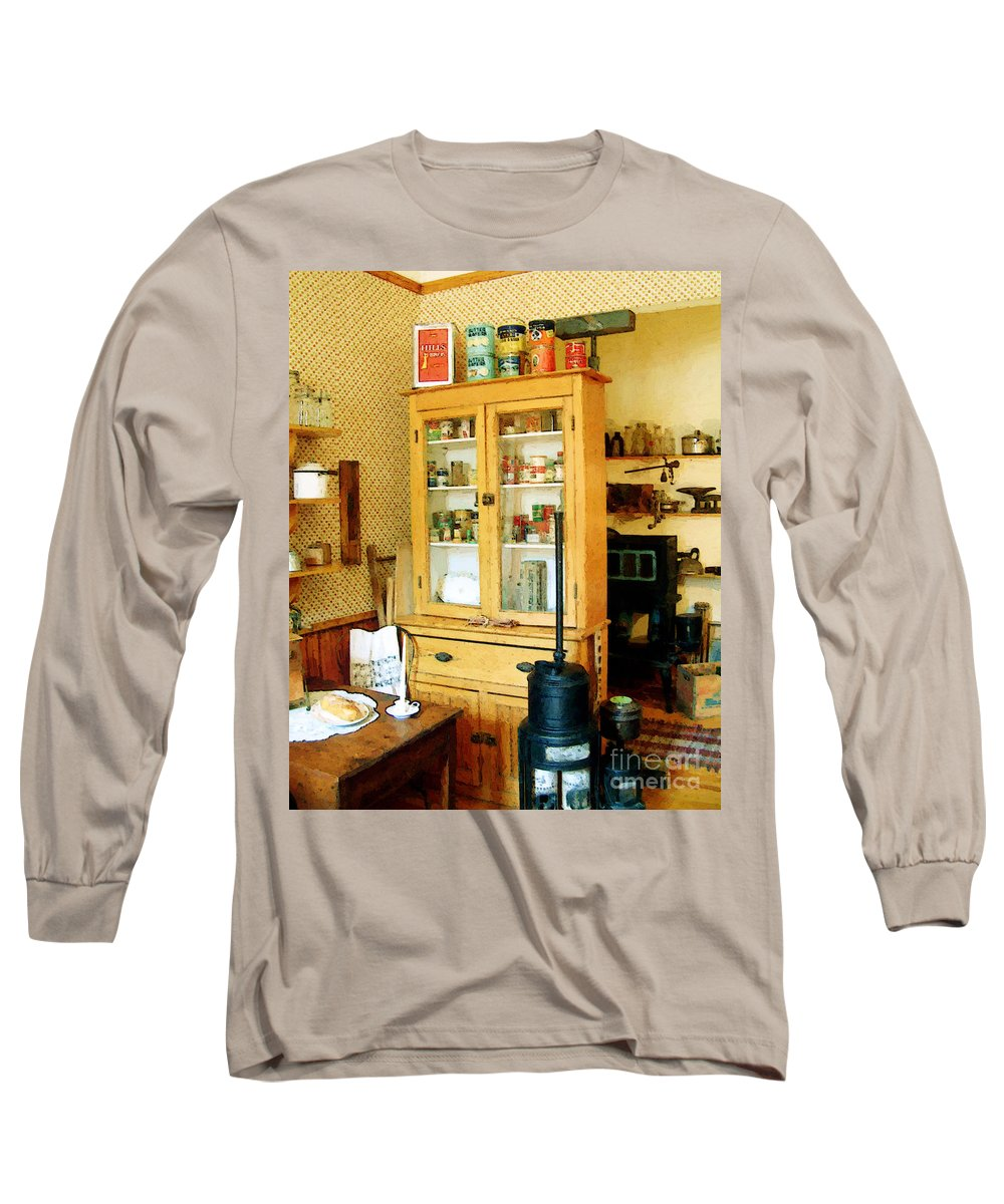 Antiques Long Sleeve T-Shirt featuring the painting Country Kitchen Sunshine IIi by RC deWinter