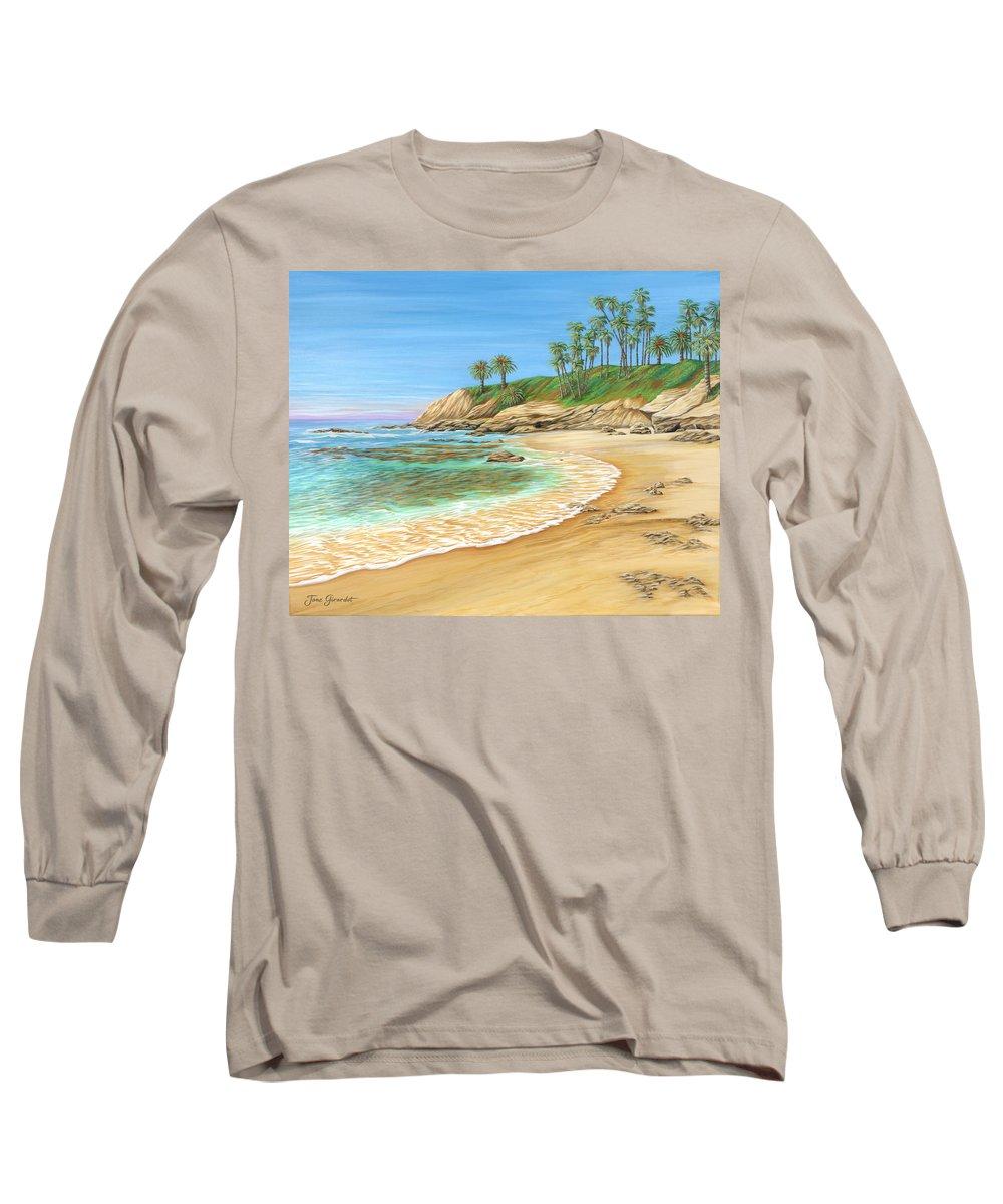 Beach Long Sleeve T-Shirt featuring the painting Early Morning Laguna by Jane Girardot