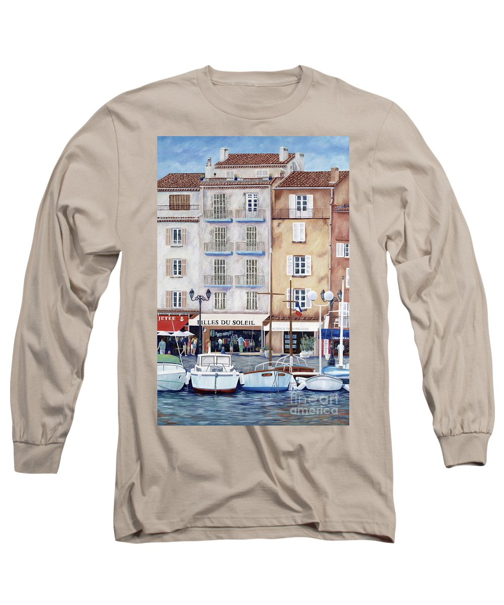 St. Tropez Long Sleeve T-Shirt featuring the painting Filles Du Soleil by Danielle Perry