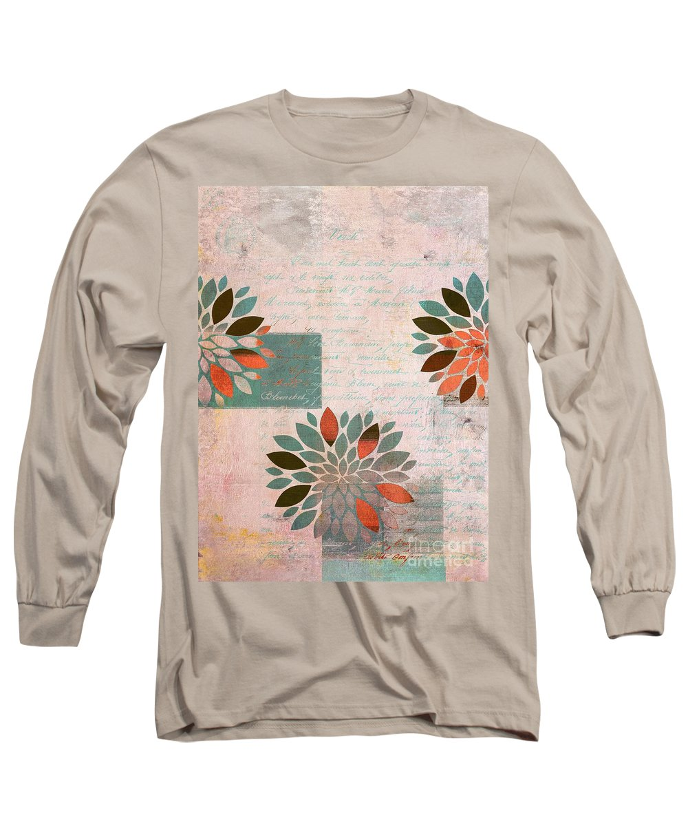 Flowers Long Sleeve T-Shirt featuring the digital art Floralis - 876a by Variance Collections