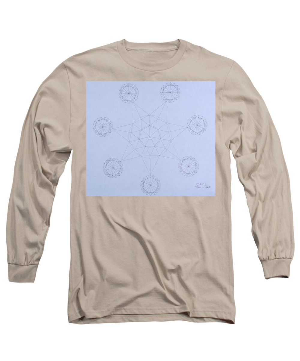 Jason Padgett Long Sleeve T-Shirt featuring the drawing Impossible Parallels by Jason Padgett