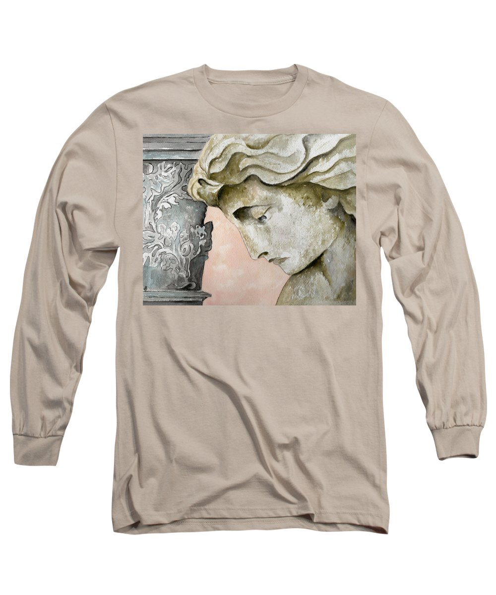 Watercolor Long Sleeve T-Shirt featuring the painting Introspective by Brenda Owen