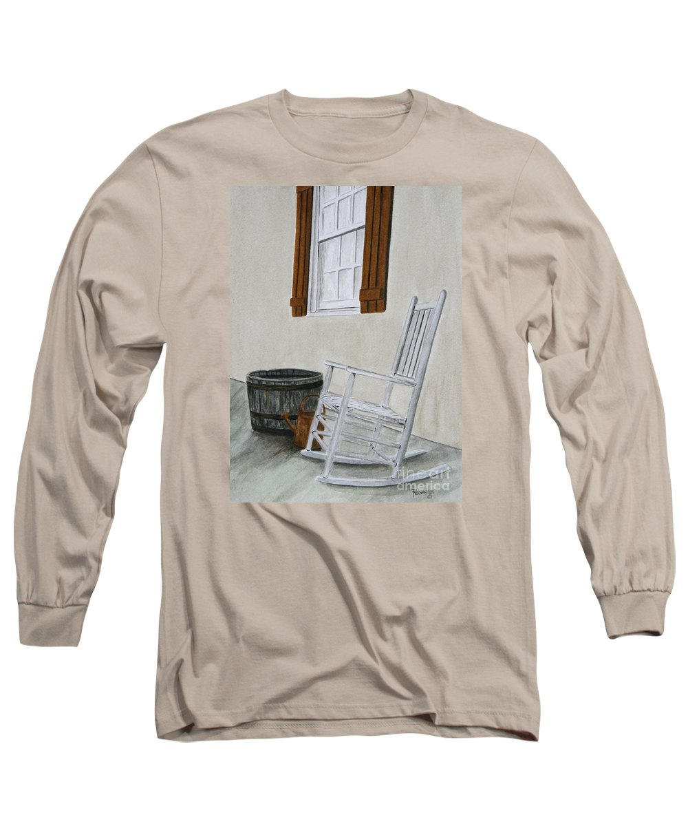 Americana Long Sleeve T-Shirt featuring the painting Lazy Day by Regan J Smith