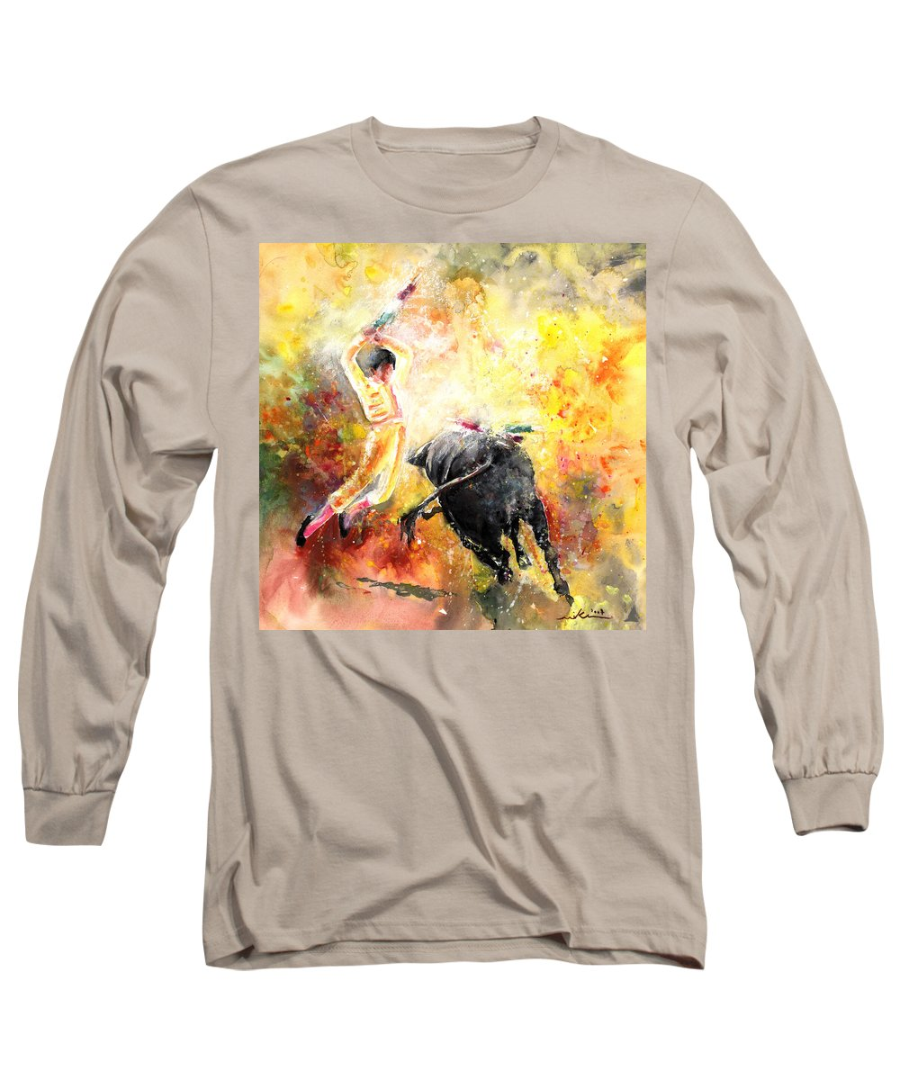 Animals Long Sleeve T-Shirt featuring the painting Lightning Strikes by Miki De Goodaboom