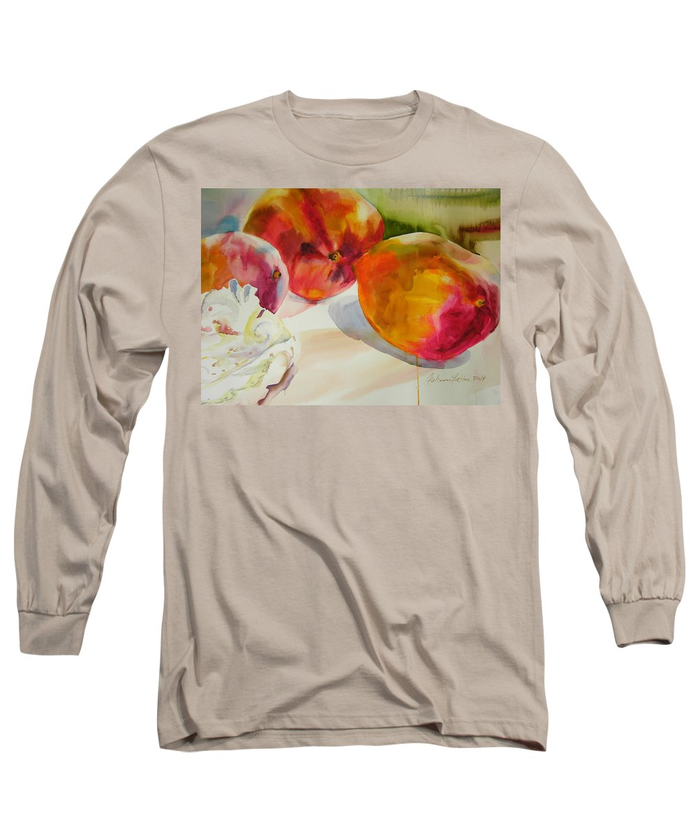 Art Long Sleeve T-Shirt featuring the painting Mangoes by Julianne Felton