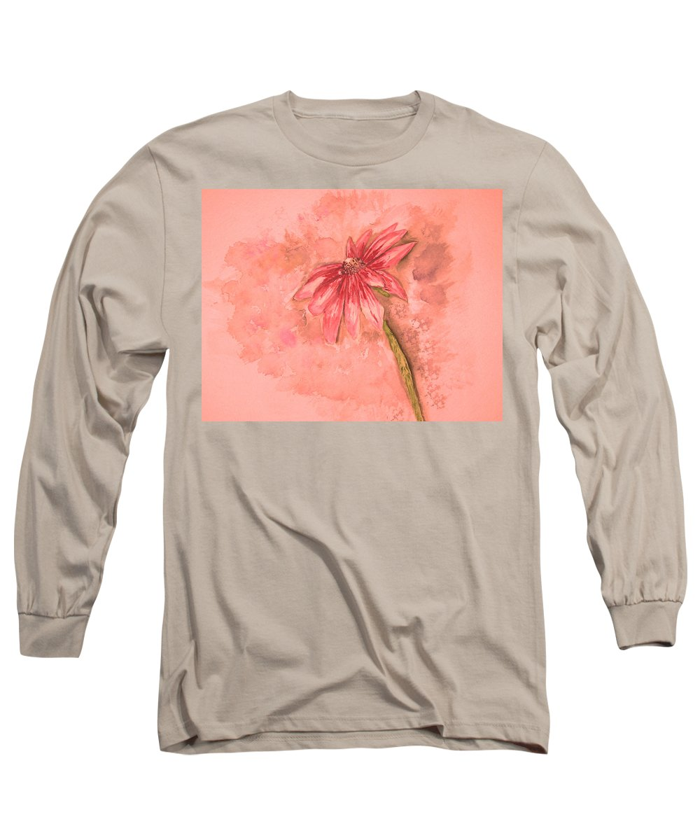 Watercolor Long Sleeve T-Shirt featuring the painting Melancholoy by Crystal Hubbard