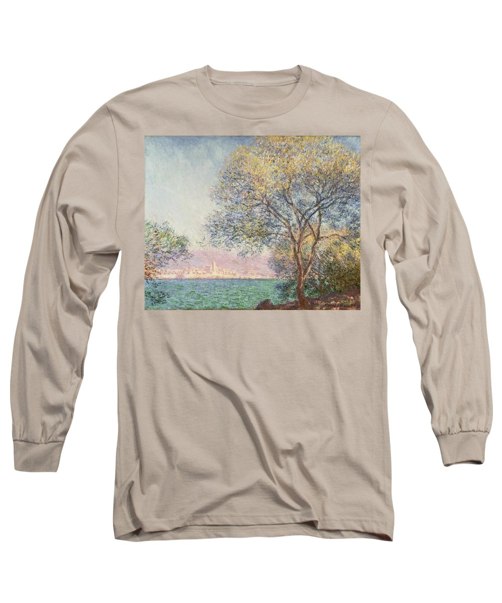 Claude Monet Long Sleeve T-Shirt featuring the painting Morning At Antibes by Claude Monet