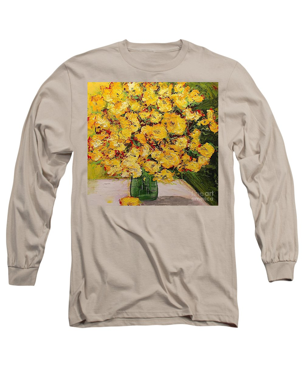 Landscape Long Sleeve T-Shirt featuring the painting New Beginnings by Allan P Friedlander