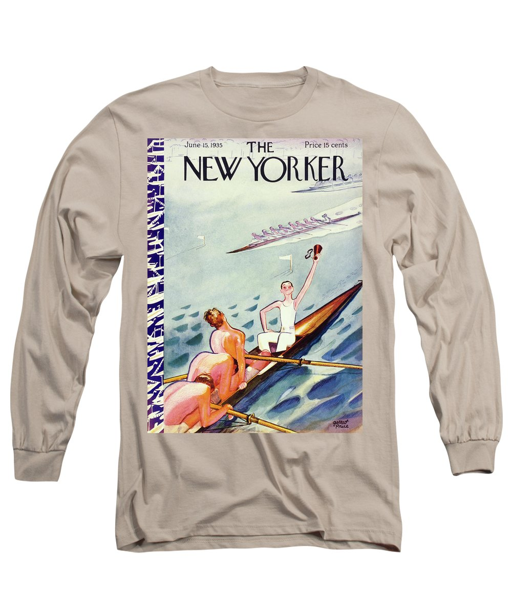 Sport Long Sleeve T-Shirt featuring the painting New Yorker June 15 1935 by Garrett Price