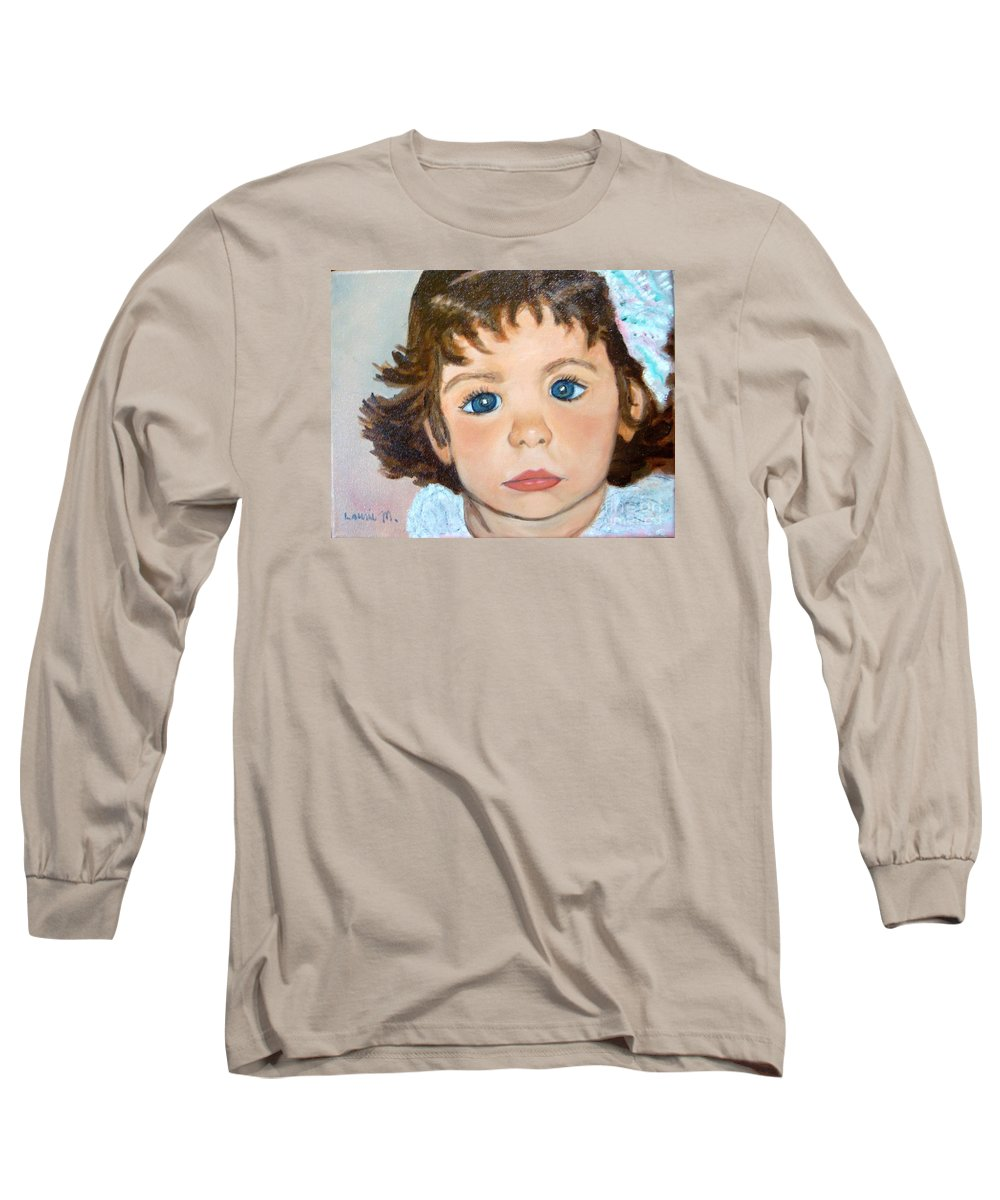 Portrait Long Sleeve T-Shirt featuring the painting Nikki by Laurie Morgan