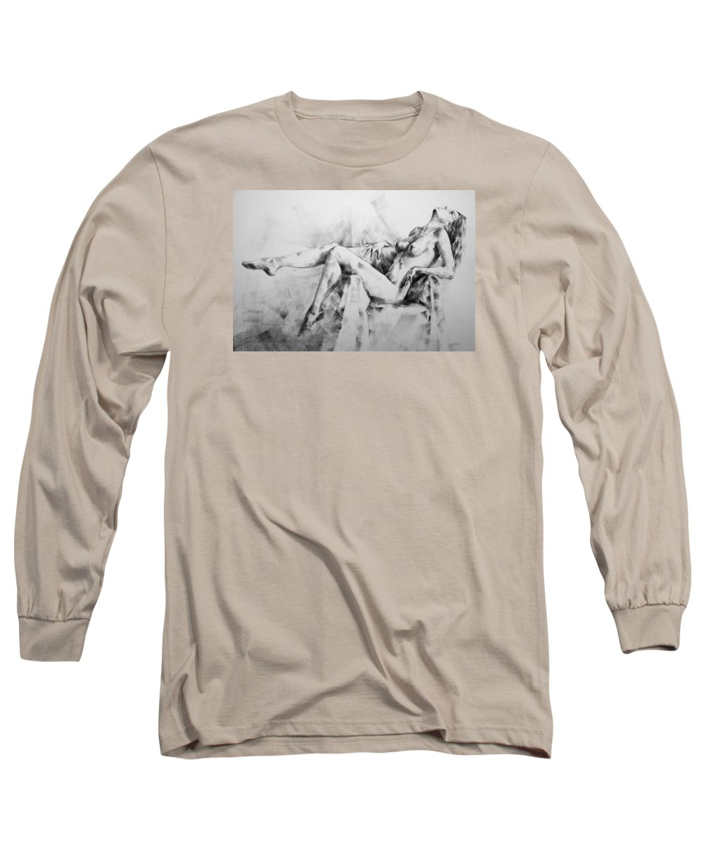 Erotic Long Sleeve T-Shirt featuring the drawing Page 11 by Dimitar Hristov