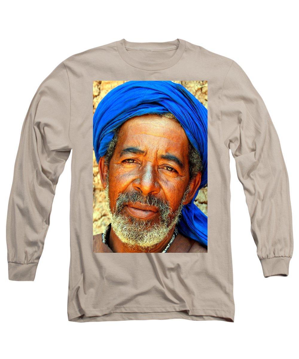 Berber Man Long Sleeve T-Shirt featuring the photograph Portrait Of A Berber Man by Ralph A Ledergerber-Photography