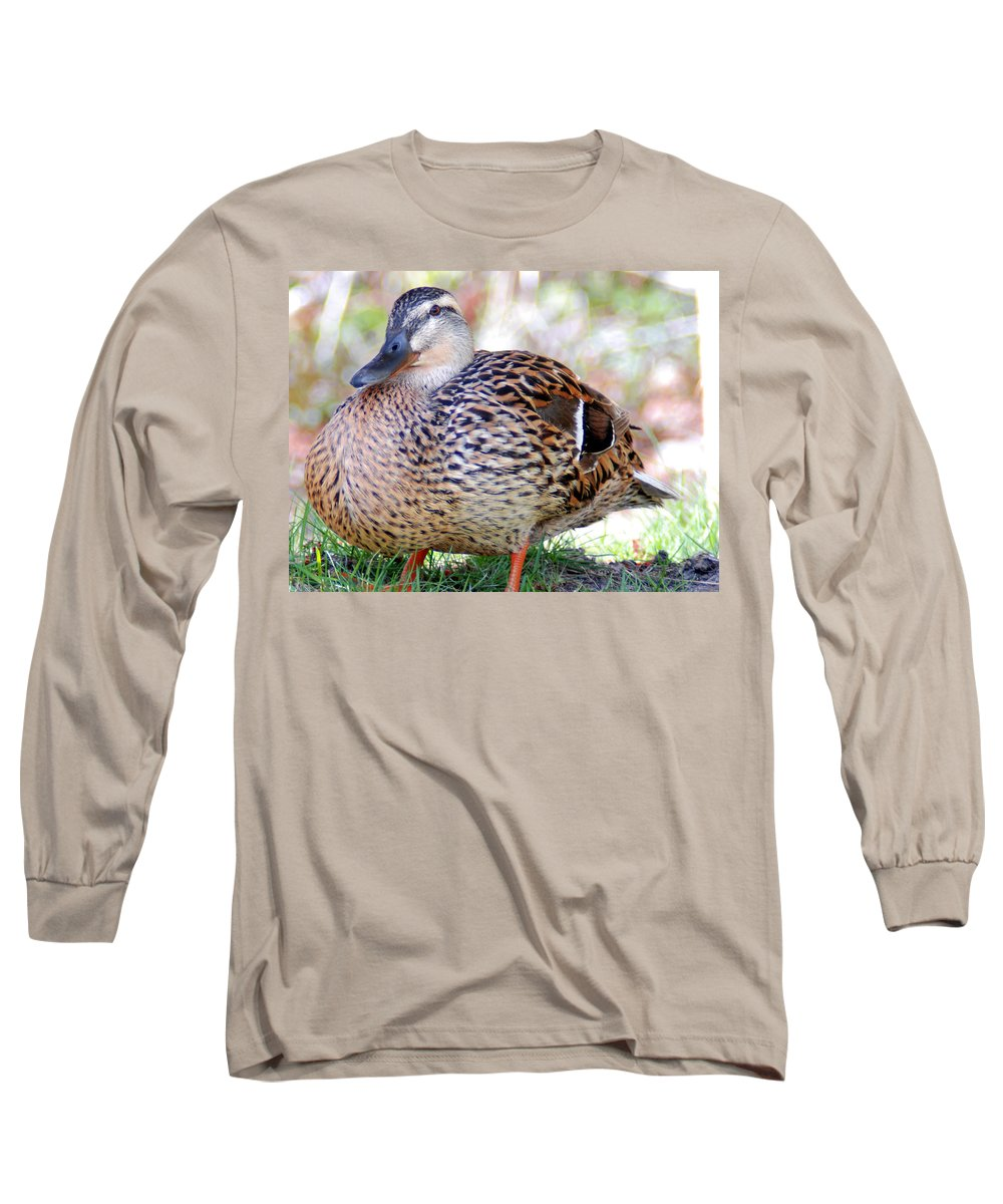 1276d0234b5fb Pregnant Female Duck Long Sleeve T-Shirt for Sale by Optical Playground By MP  Ray