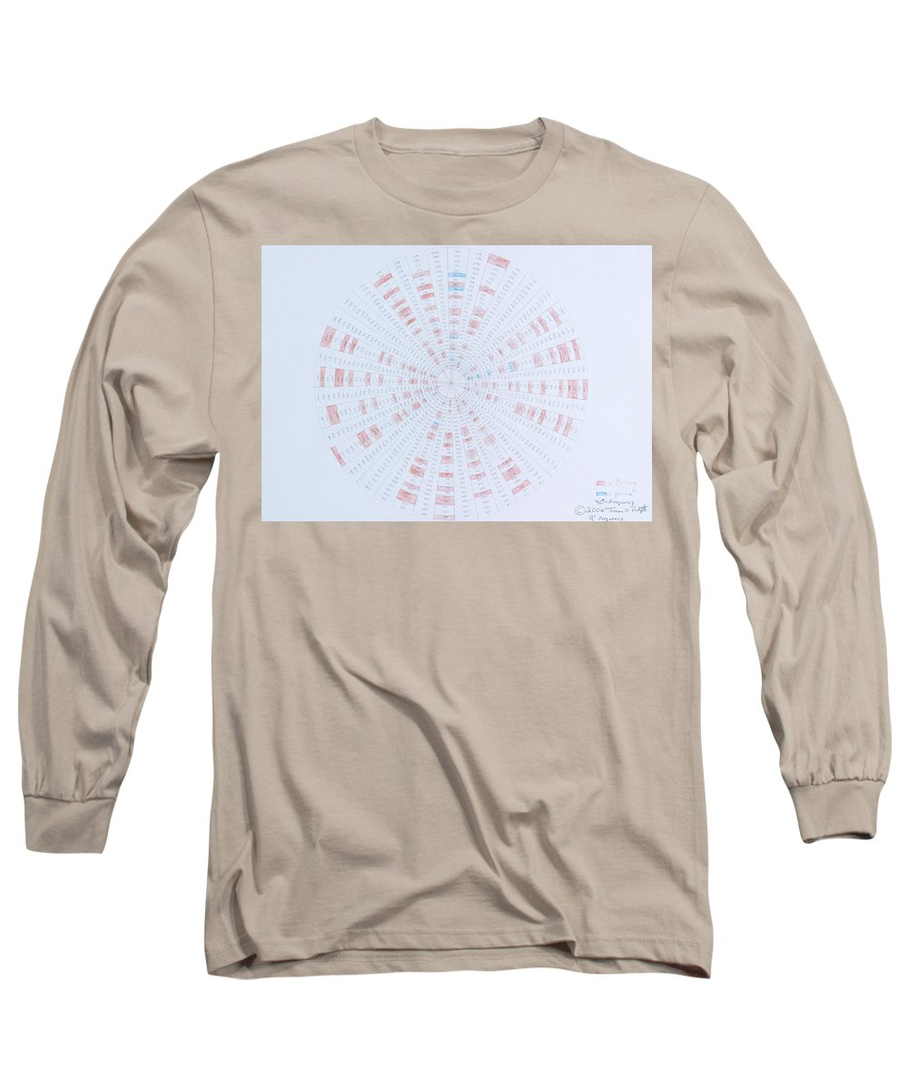 Prime Number Long Sleeve T-Shirt featuring the drawing Prime Number Pattern P Mod 40 by Jason Padgett