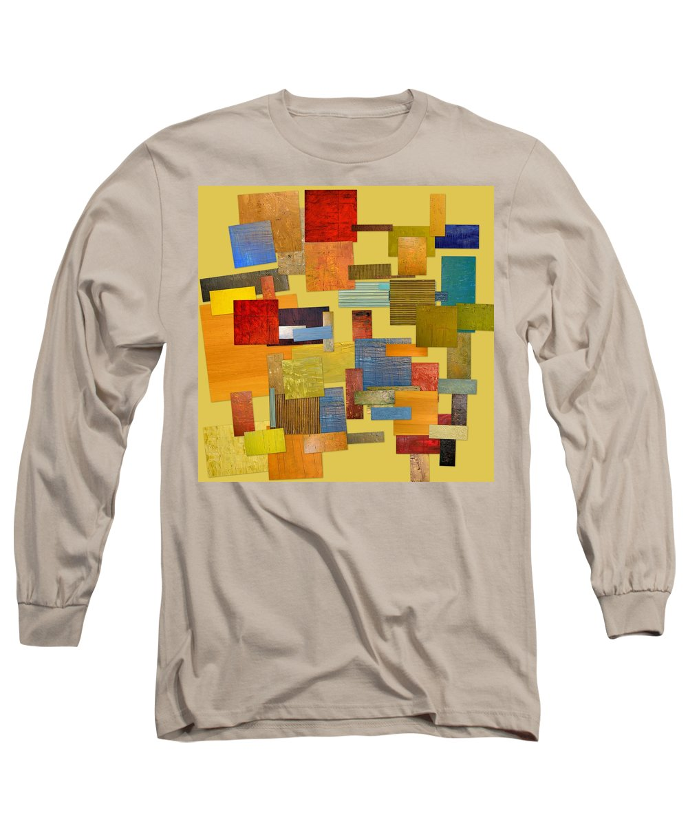 Textural Long Sleeve T-Shirt featuring the painting Scrambled Eggs Lll by Michelle Calkins