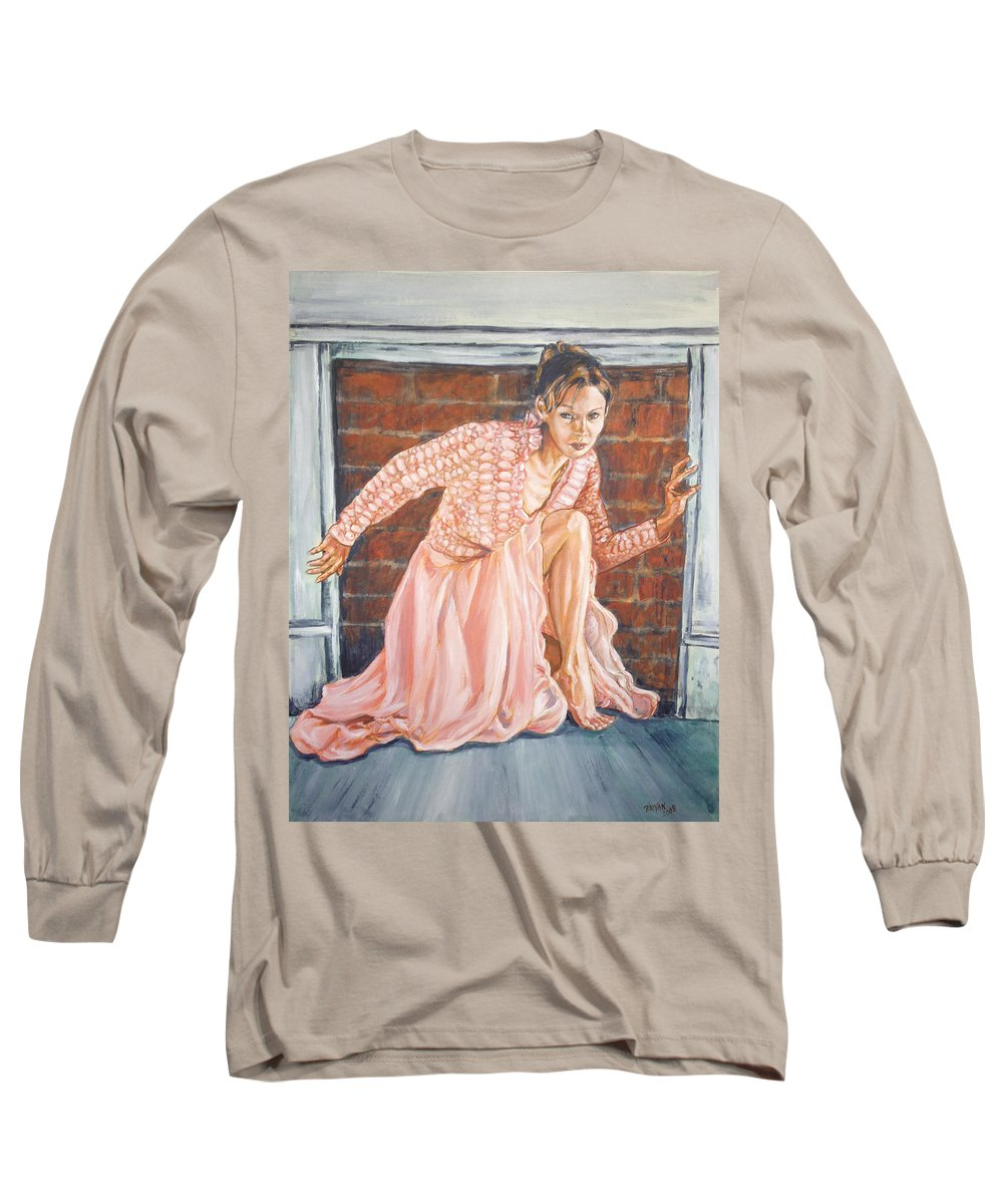 Blonde Long Sleeve T-Shirt featuring the painting Secret Passage by Bryan Bustard