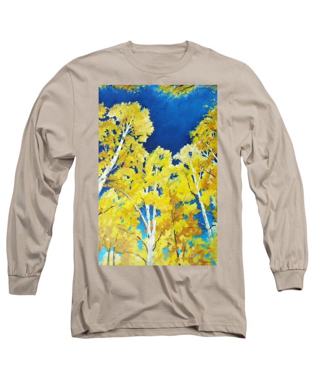 Sky Long Sleeve T-Shirt featuring the painting Skyward by Richard T Pranke