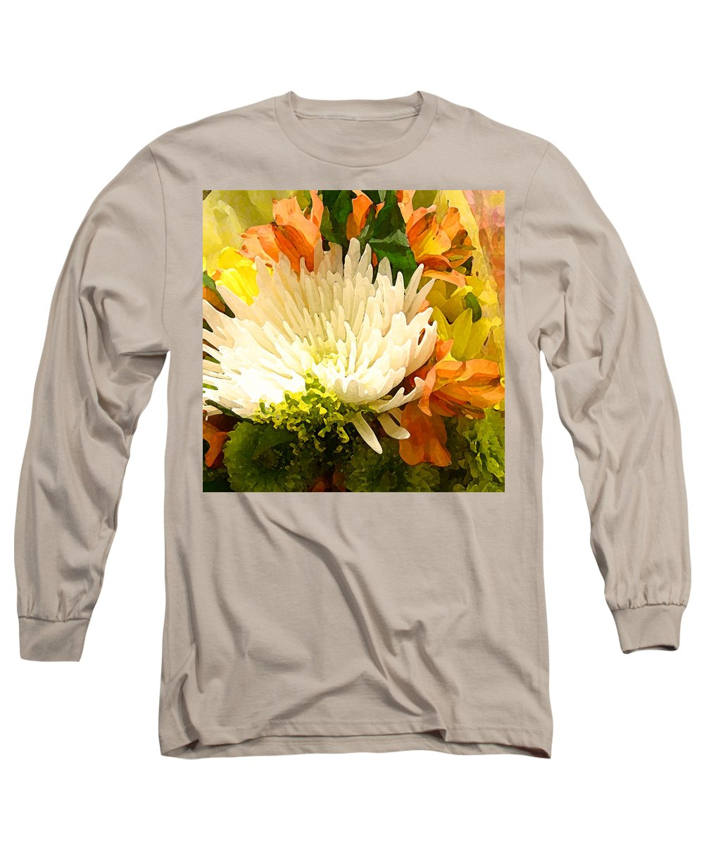 Roses Long Sleeve T-Shirt featuring the painting Spring Flower Burst by Amy Vangsgard