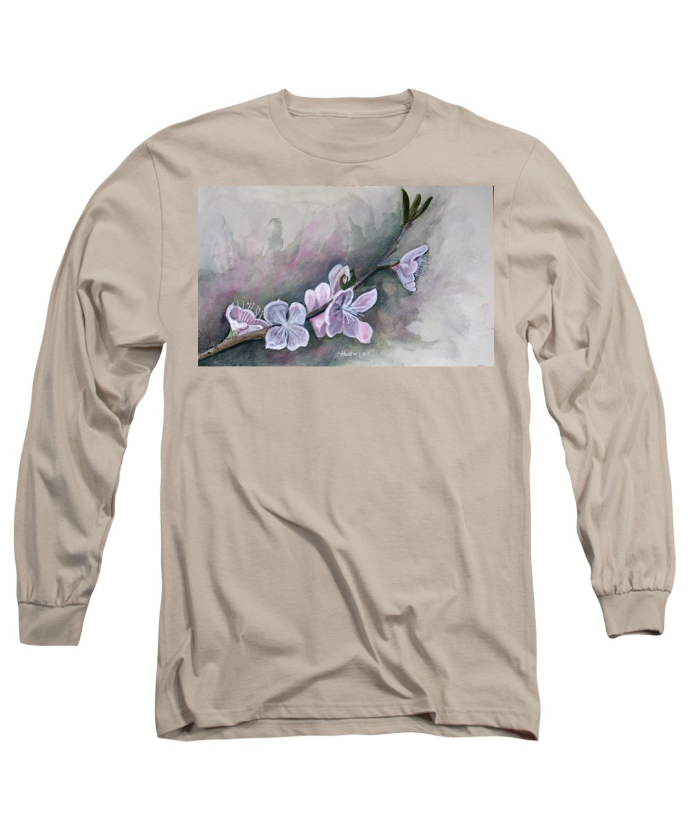 Rick Huotari Long Sleeve T-Shirt featuring the painting Spring Splendor by Rick Huotari