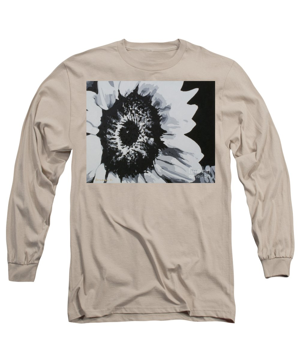 Sunflower Long Sleeve T-Shirt featuring the painting Sunflower by Katharina Filus