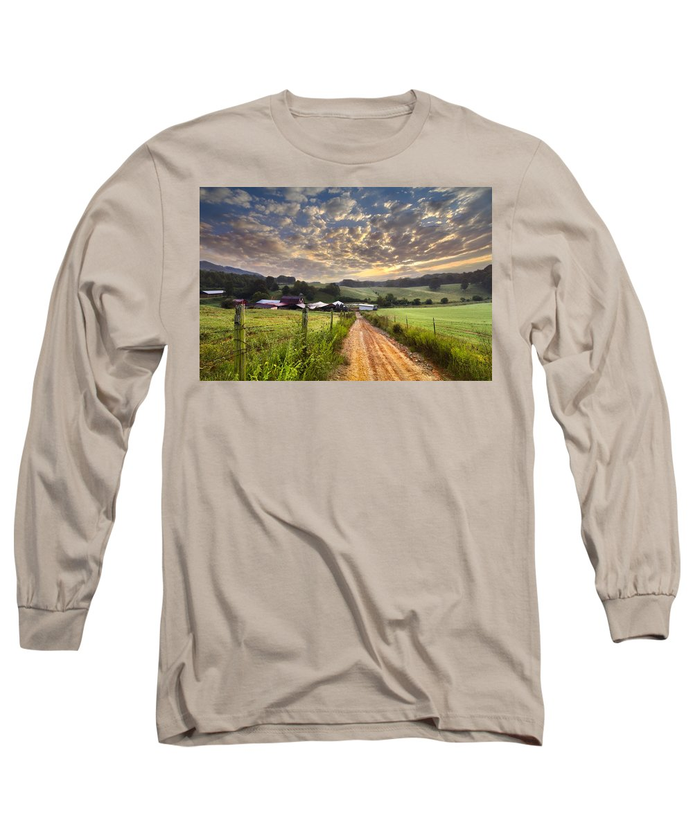 Appalachia Long Sleeve T-Shirt featuring the photograph The Old Farm Lane by Debra and Dave Vanderlaan