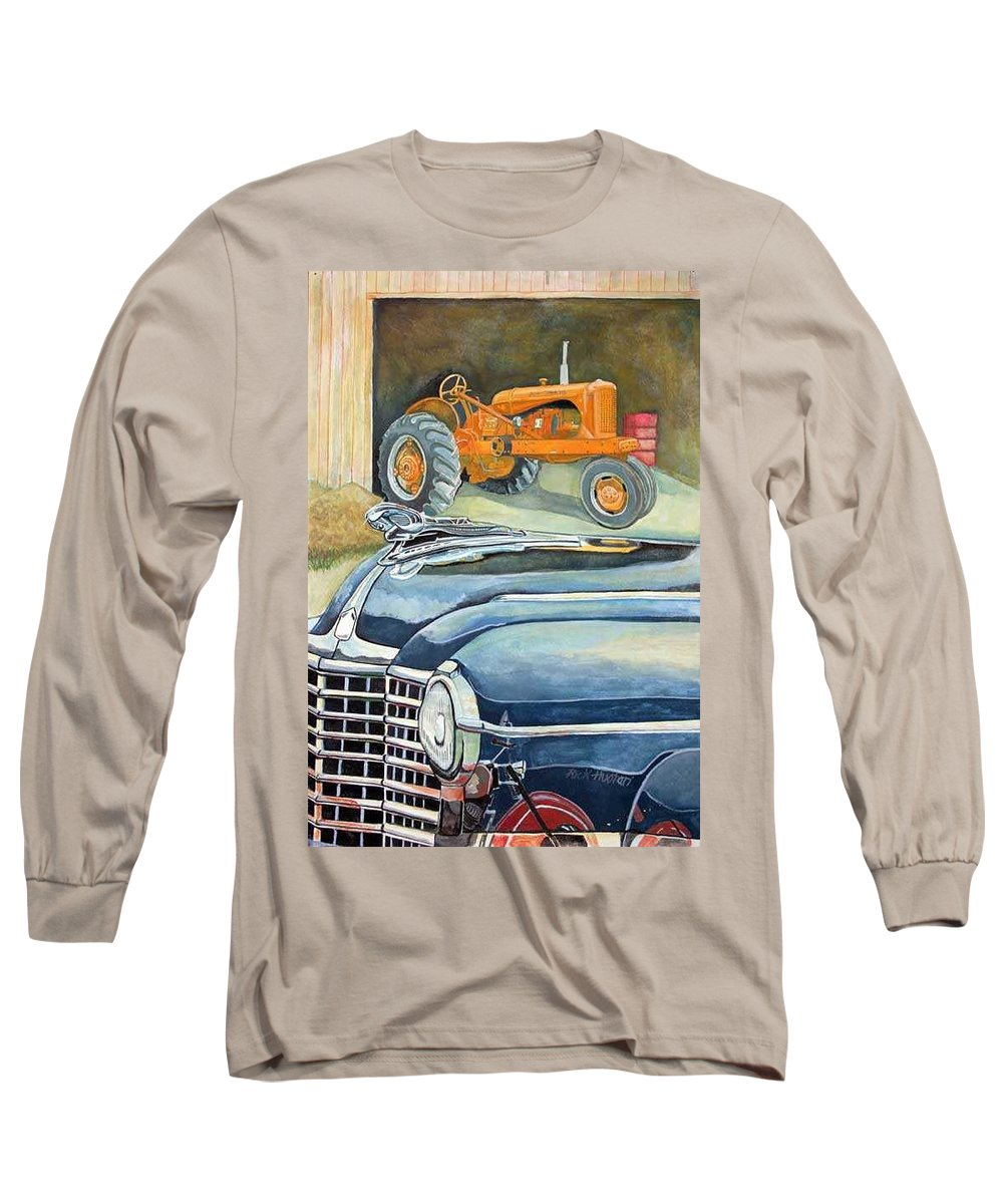 Rick Huotari Long Sleeve T-Shirt featuring the painting The Old Farm by Rick Huotari