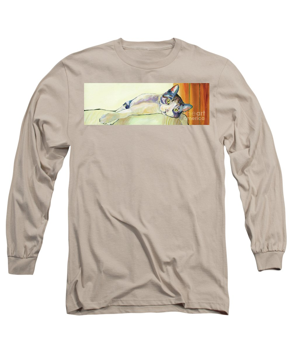 Pat Saunders-white Canvas Prints Long Sleeve T-Shirt featuring the painting The Sunbather by Pat Saunders-White