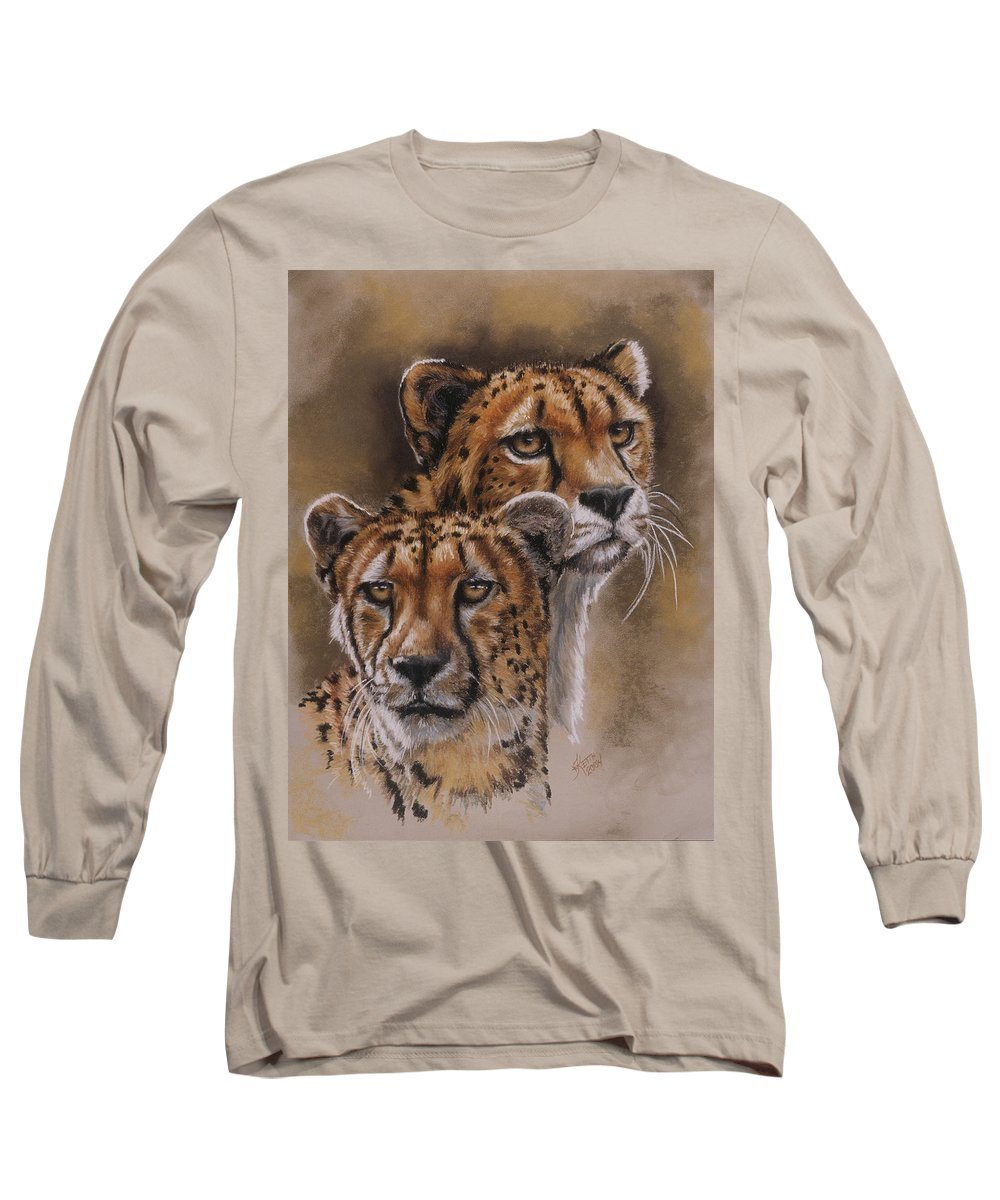 Cheetah Long Sleeve T-Shirt featuring the pastel Twins by Barbara Keith