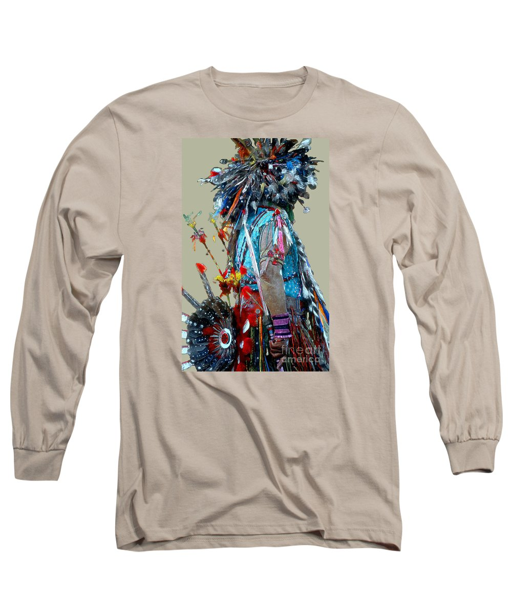 Indians Long Sleeve T-Shirt featuring the photograph Waiting To Dance by Linda Parker