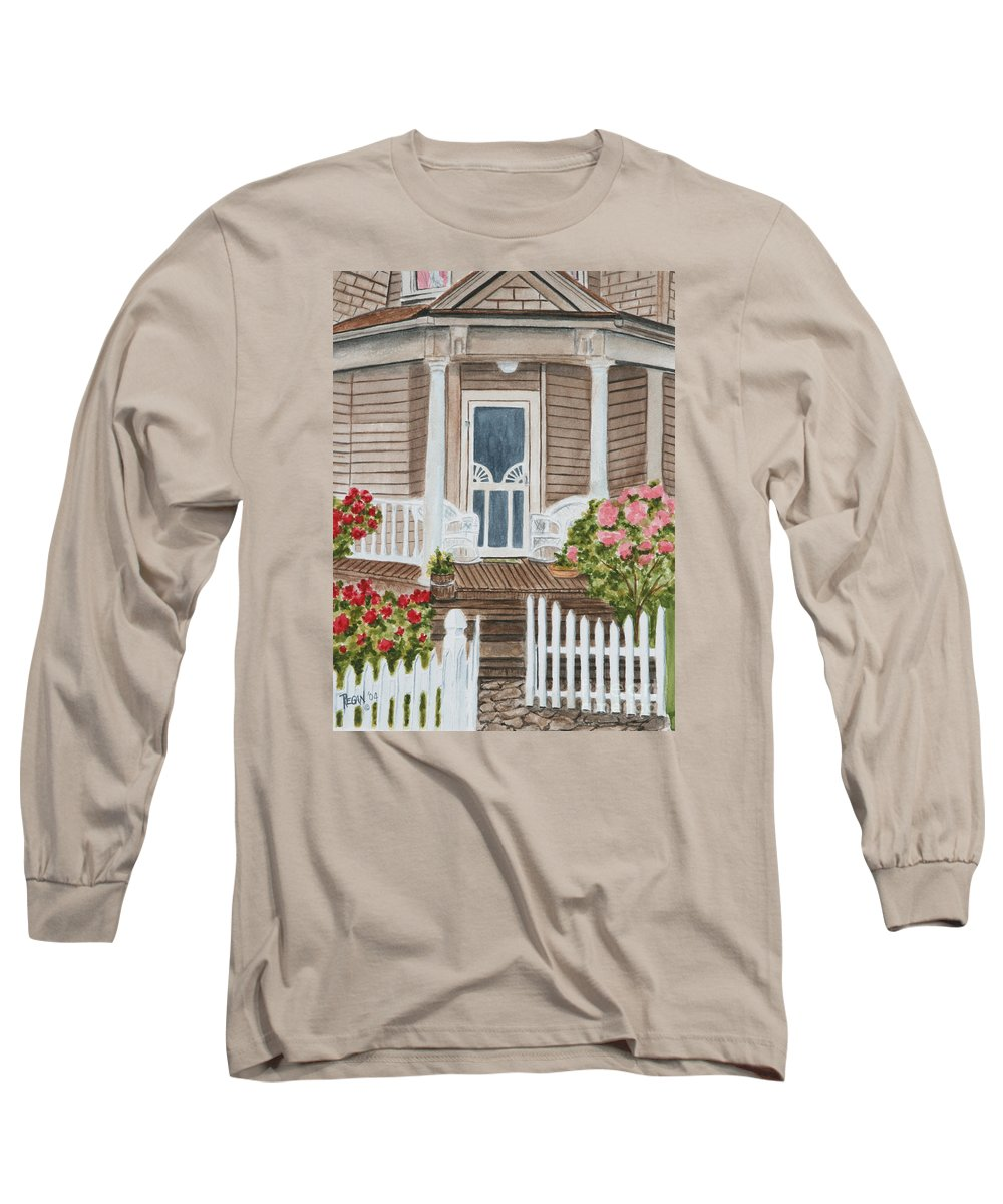 Architecture Long Sleeve T-Shirt featuring the painting Welcome by Regan J Smith