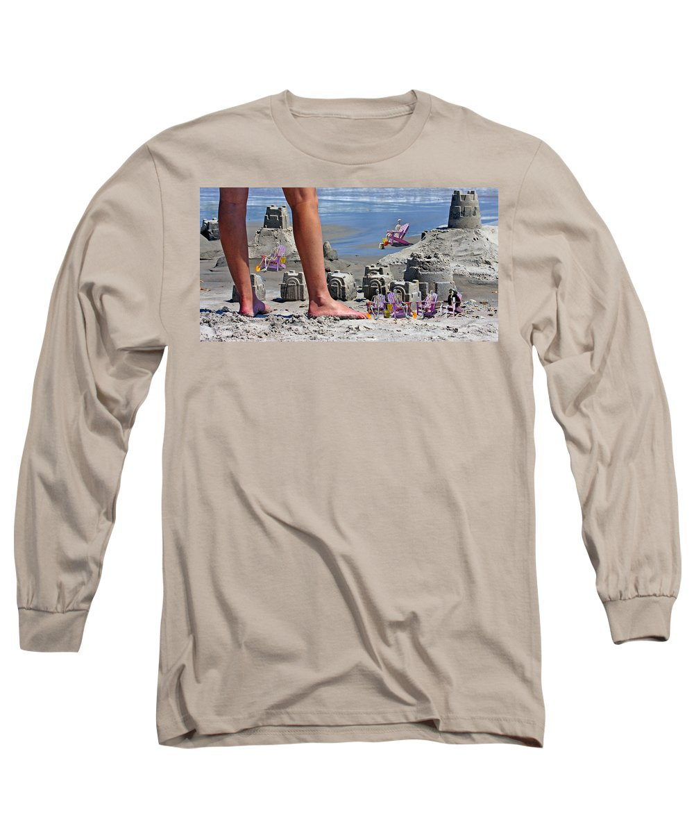Beach Long Sleeve T-Shirt featuring the digital art We're Moving In by Betsy Knapp