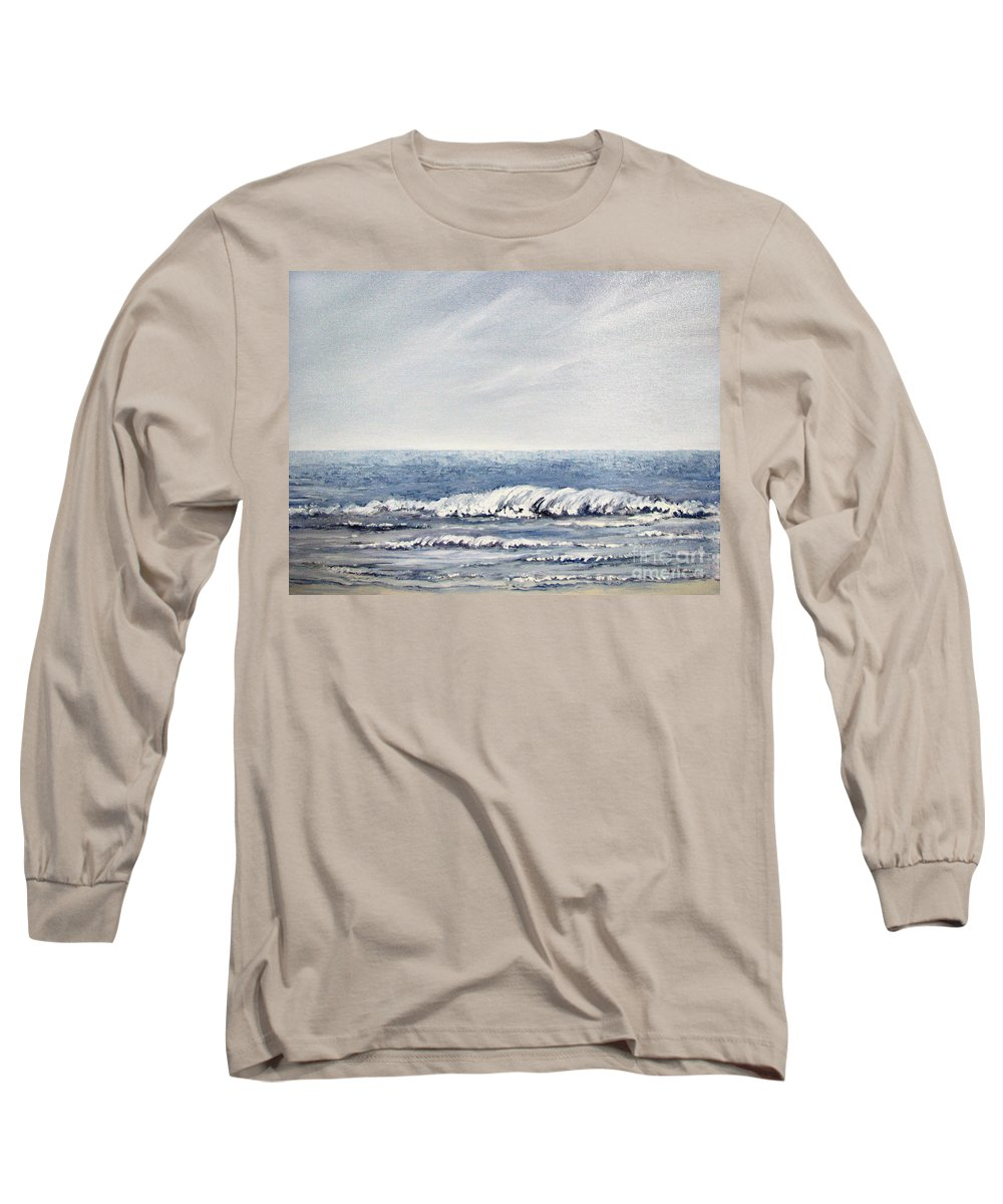 Seascape Long Sleeve T-Shirt featuring the painting Where I Want To Be by Todd A Blanchard