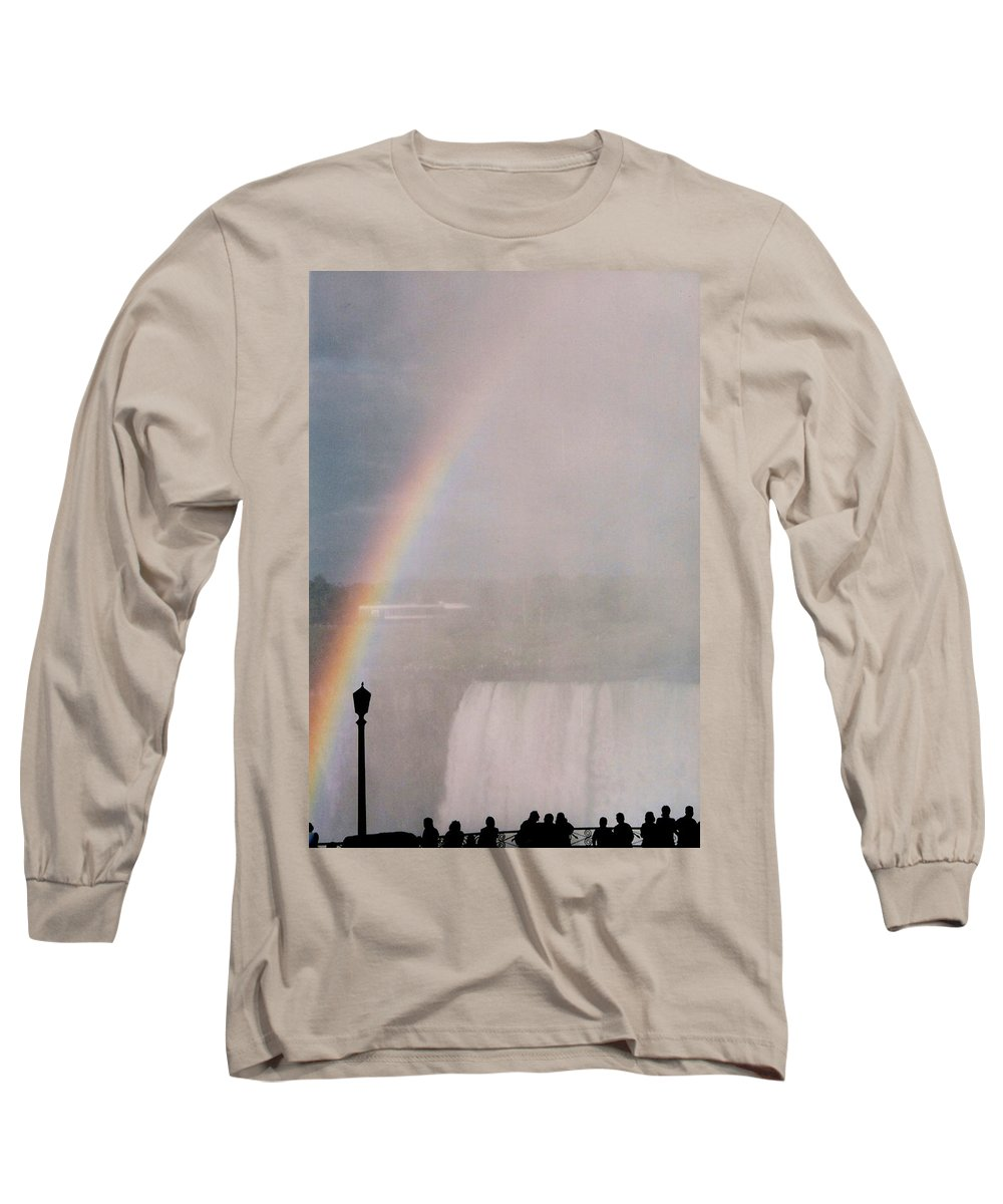 Waterfall Long Sleeve T-Shirt featuring the photograph Rainbow Falls by Pharris Art