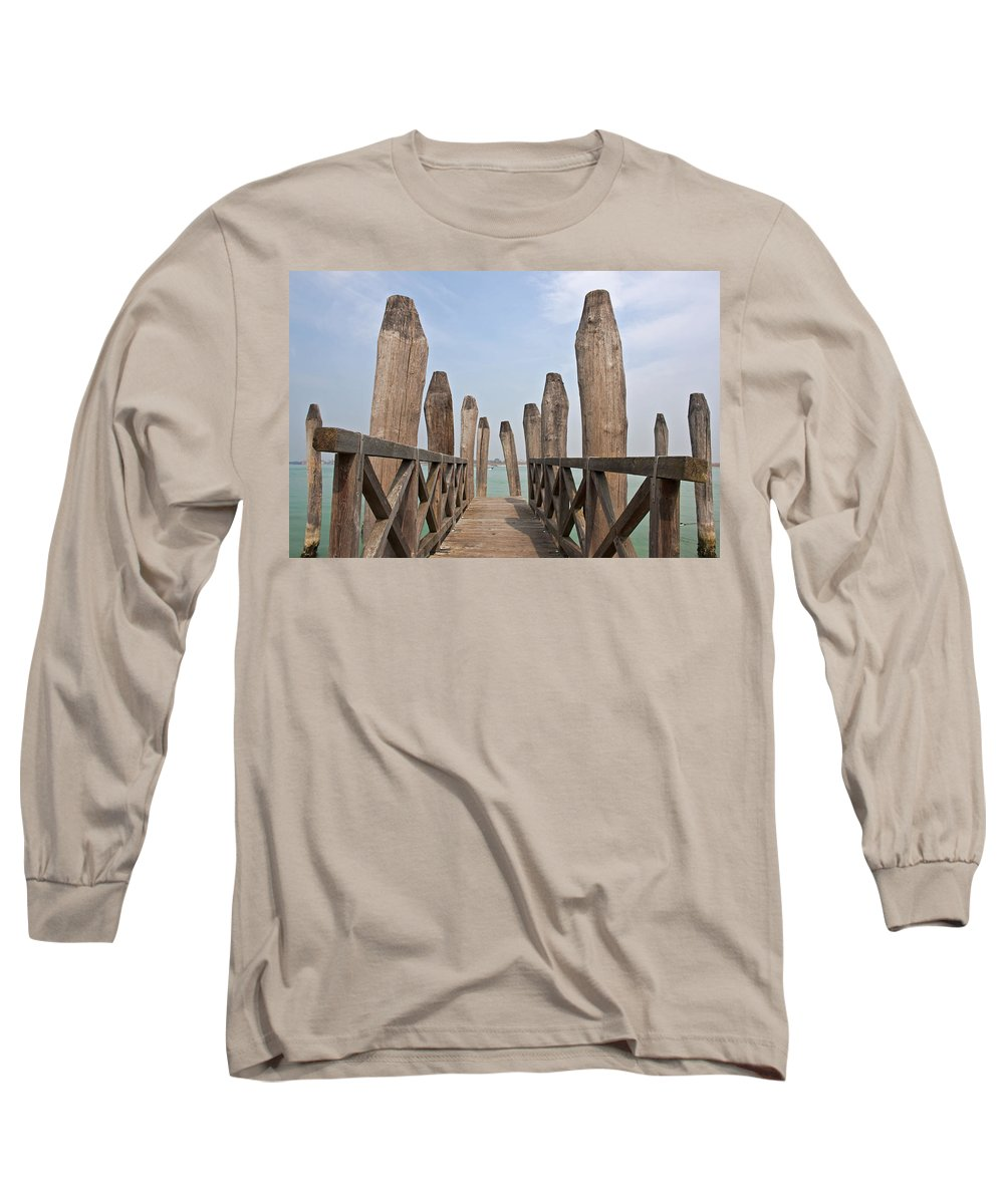 Architecture Long Sleeve T-Shirt featuring the photograph Burano - Venice - Italy by Joana Kruse