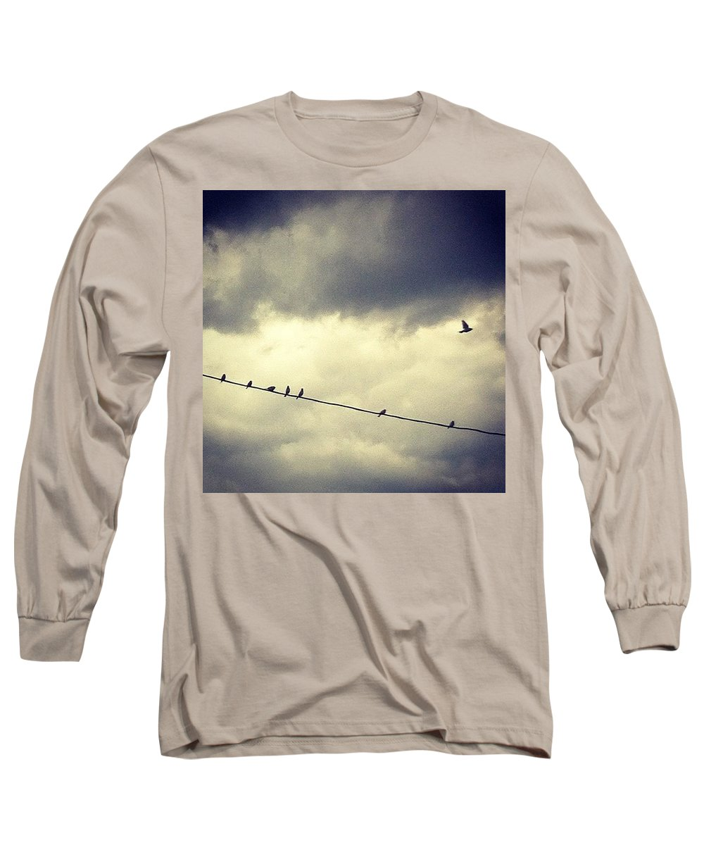 Long Sleeve T-Shirt featuring the photograph Da Birds by Katie Cupcakes