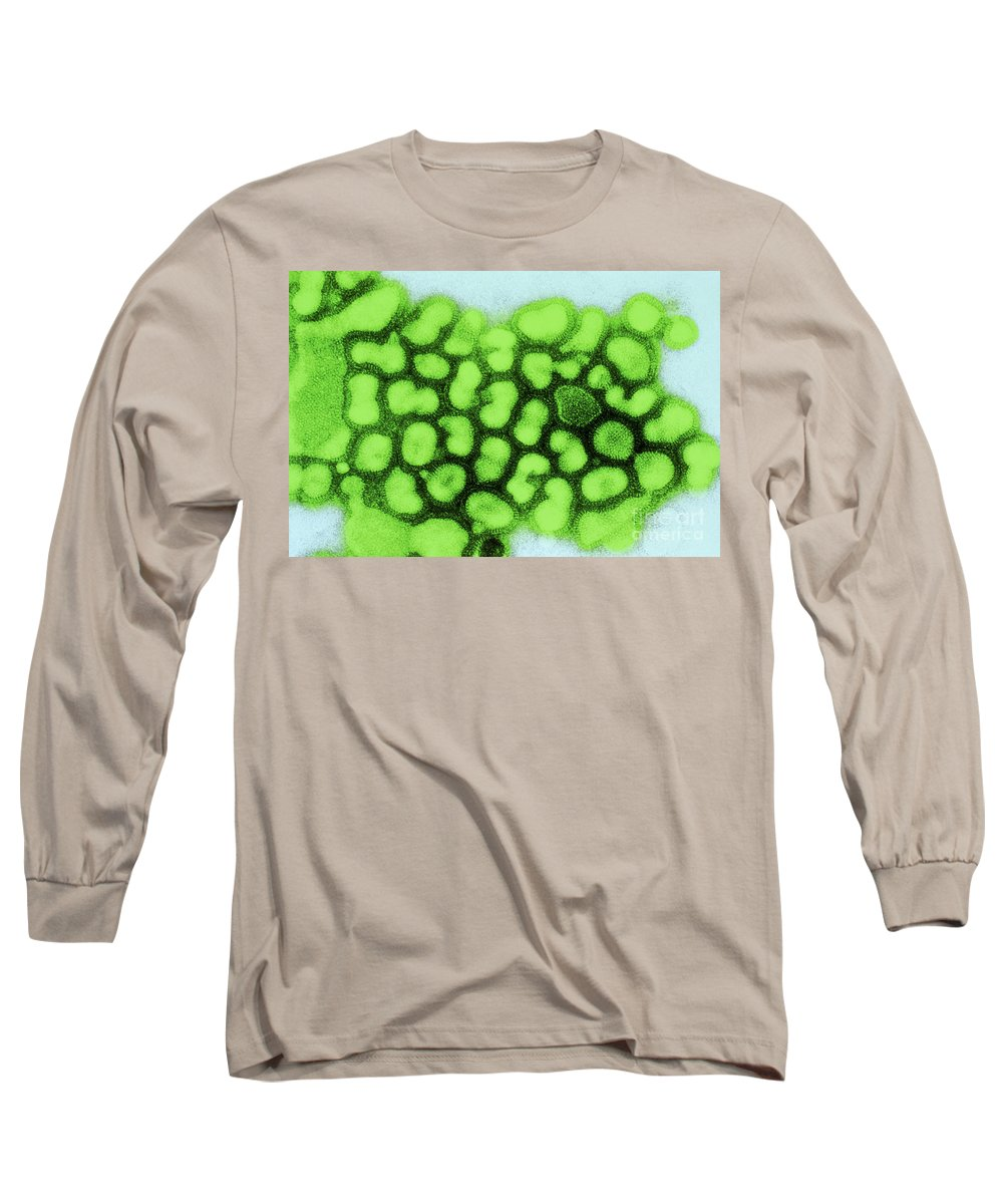 All Use Long Sleeve T-Shirt featuring the photograph Influenza A Tem by Science Source