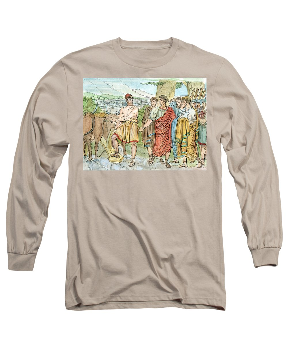 5th Century B.c. Long Sleeve T-Shirt featuring the photograph Lucius Quintus Cincinnatus by Granger