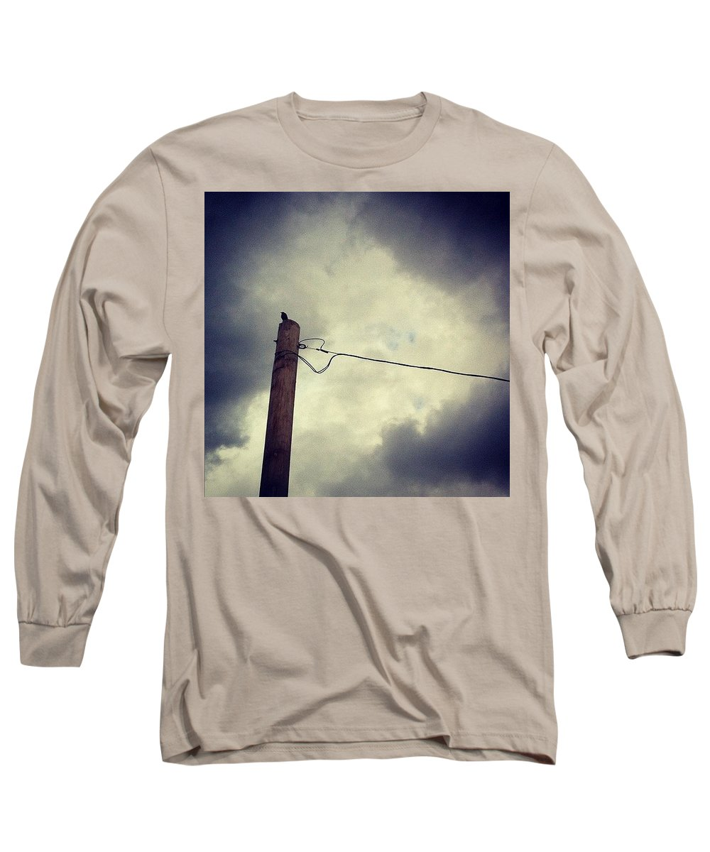 Storm Long Sleeve T-Shirt featuring the photograph #storm Watcher by Katie Cupcakes