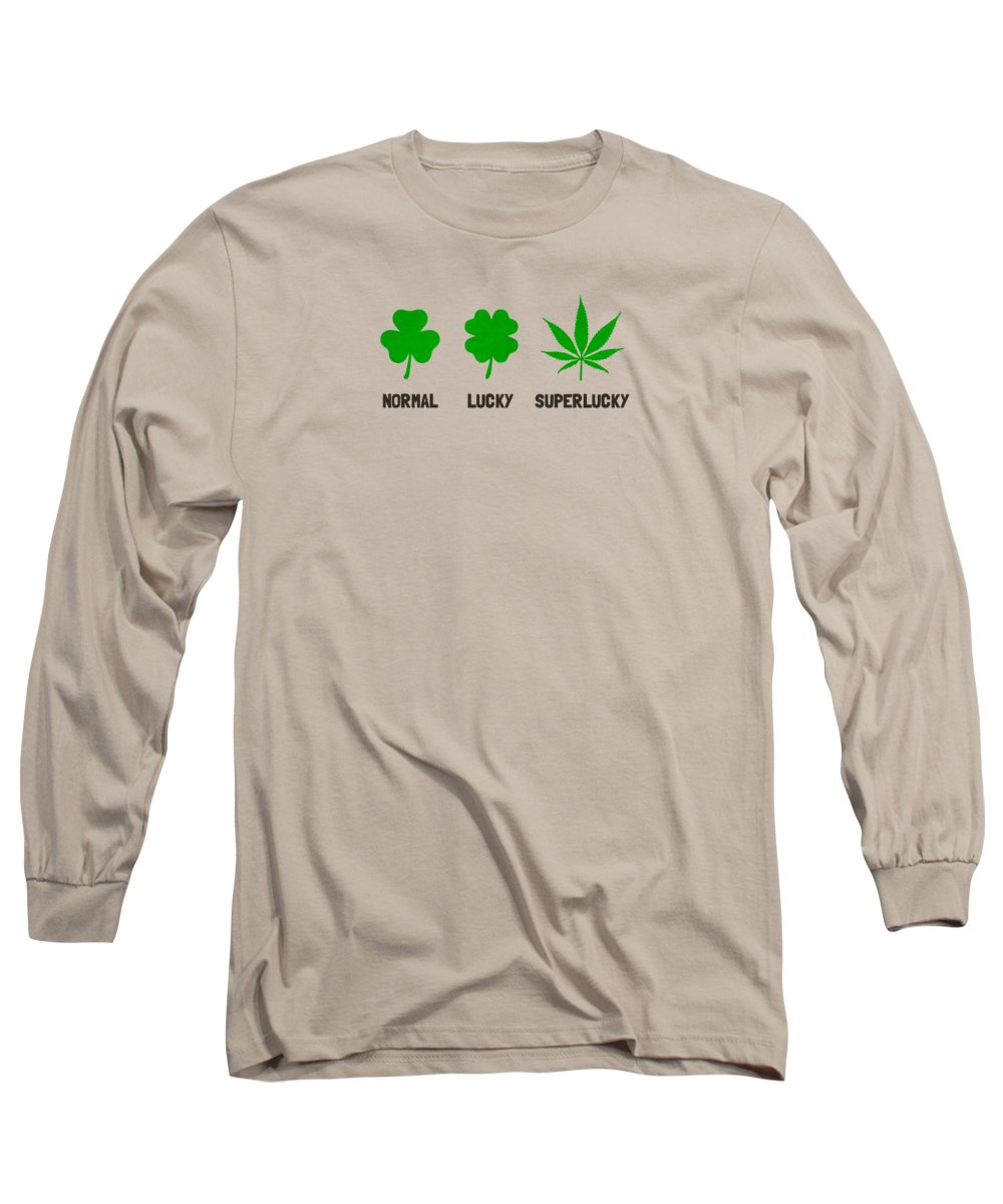 Leaf Long Sleeve T-Shirt featuring the digital art Cannabis  Hemp 420  Marijuana Pattern by Philipp Rietz